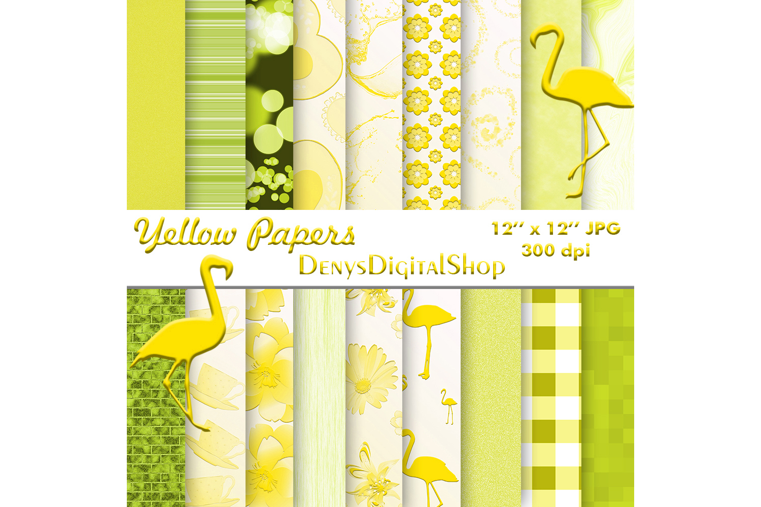 Yellow Paper, Yellow Digital Paper,Yellow Digital, SALE example image 1