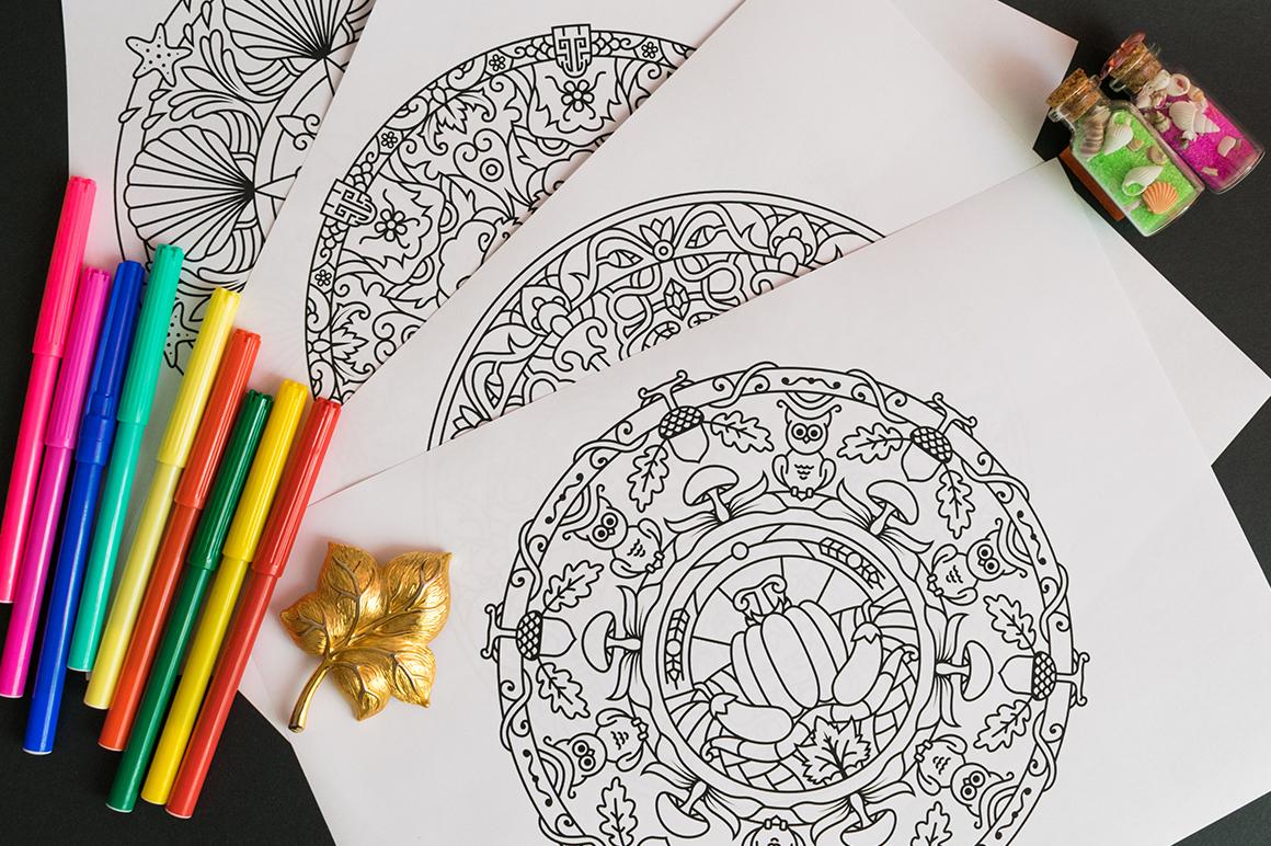 Seasonal and Holiday Mandalas example image 5