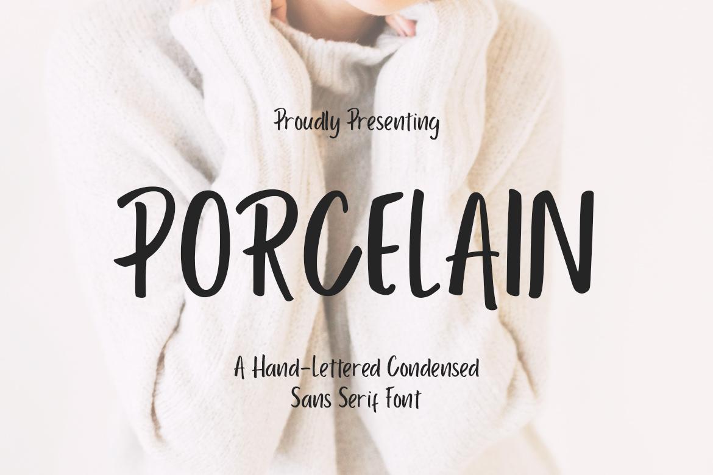 Porcelain Sans Serif example image 1