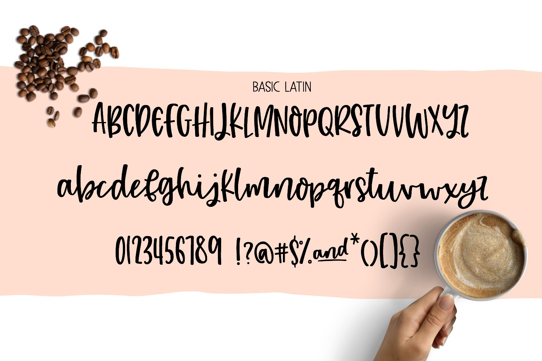 Hazelnut Macchiato Handlettered Script Font example image 2