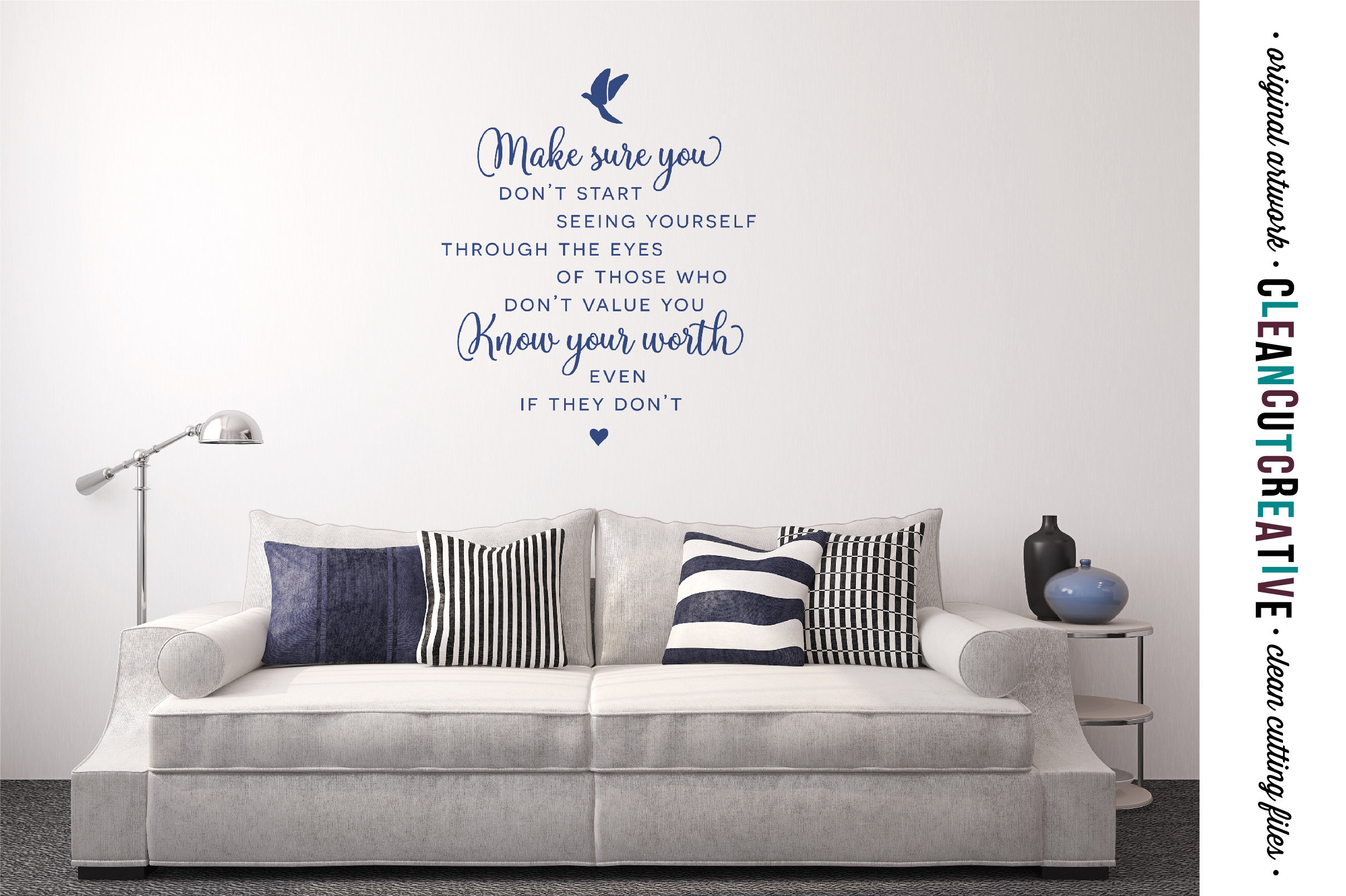 Make sure you KOW YOUR WORTH - Inspiring Quote - SVG DXF EPS PNG - Cricut & Silhouette - clean cutting files example image 2