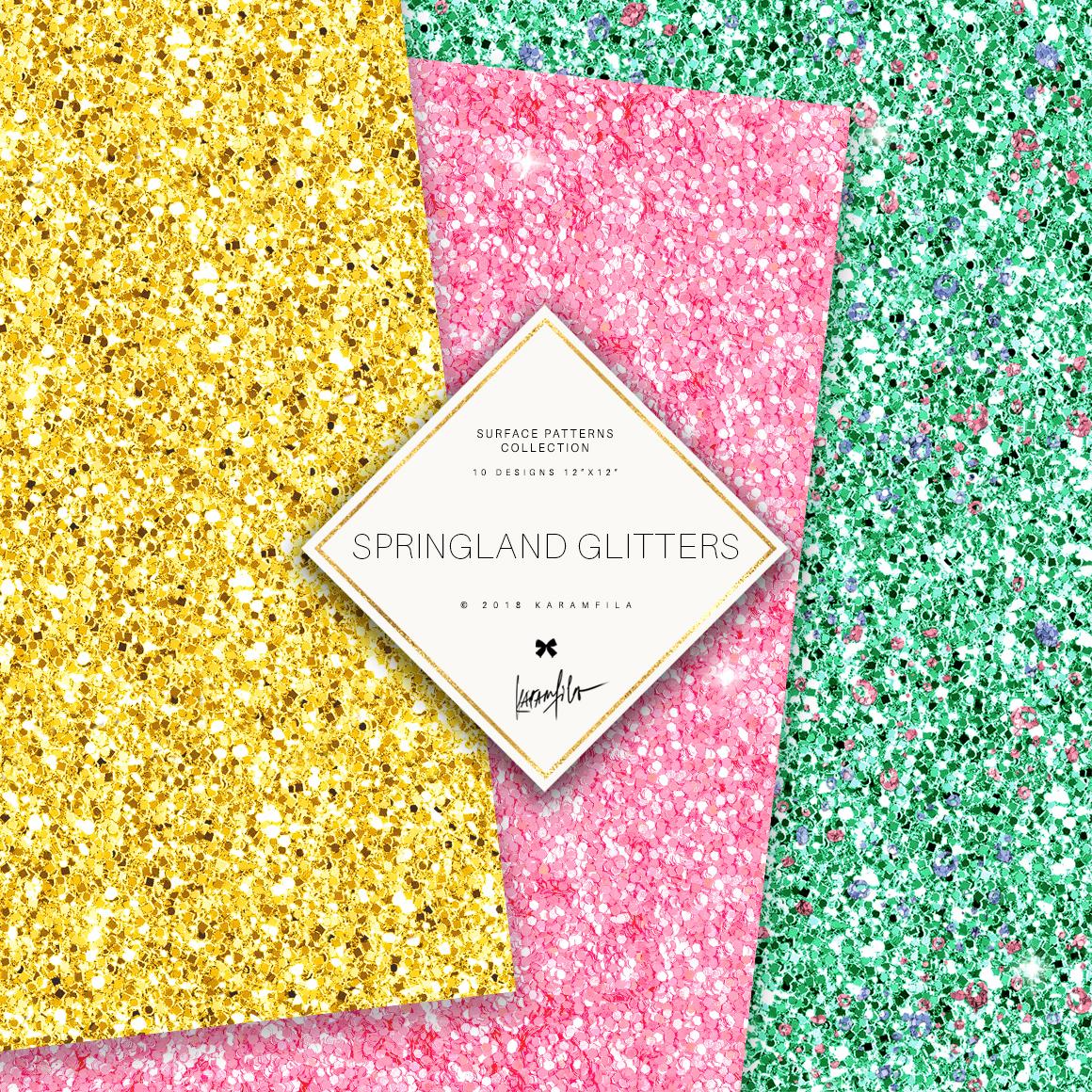 Karamfila's Springland Glitter Textures example image 2