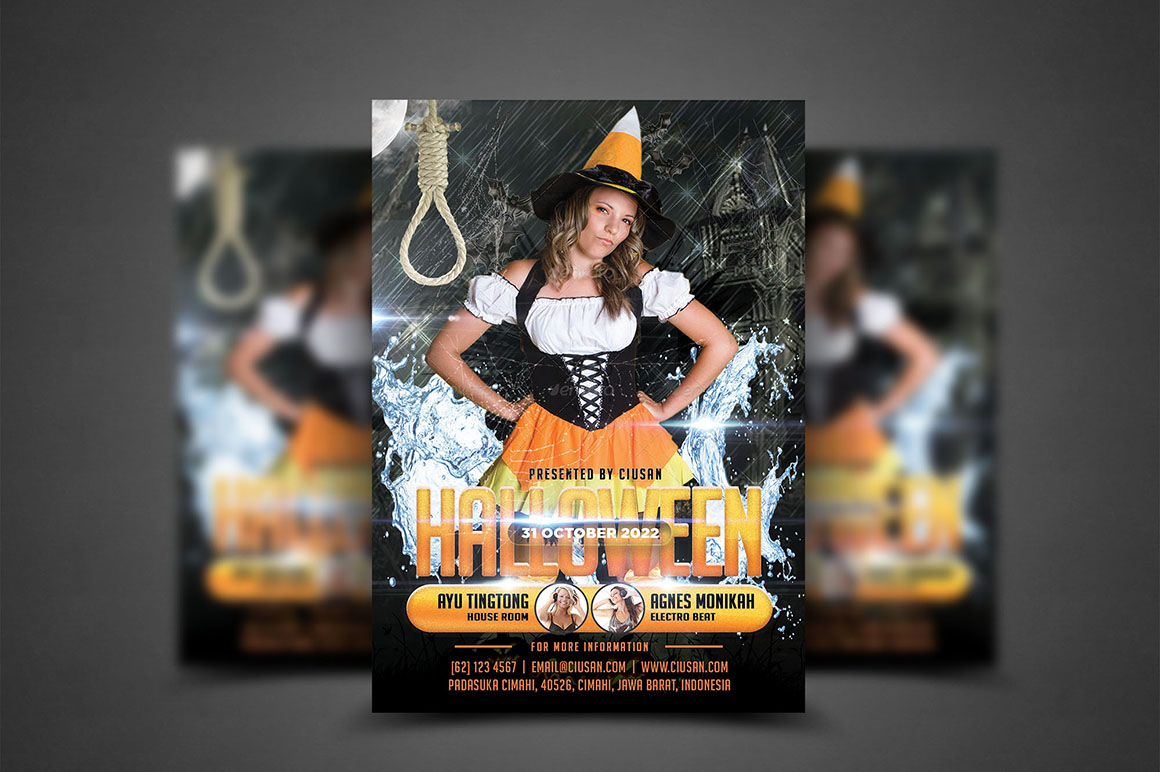 Halloween Flyer Template - Bundle example image 9