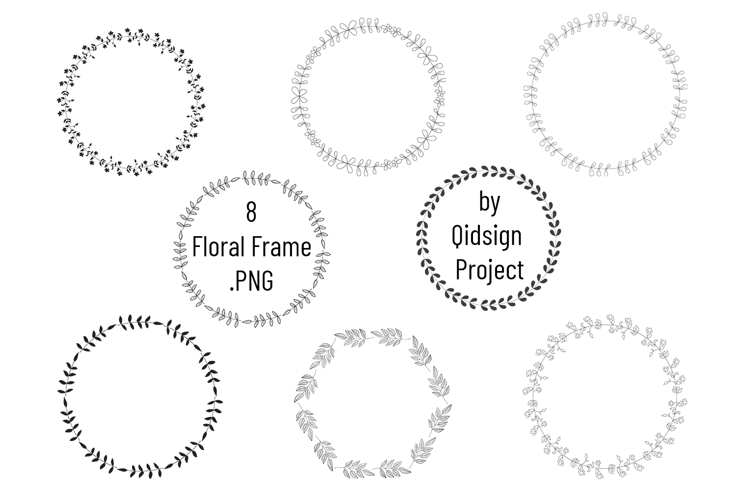 Floral Frame Clipart . PNG example image 1