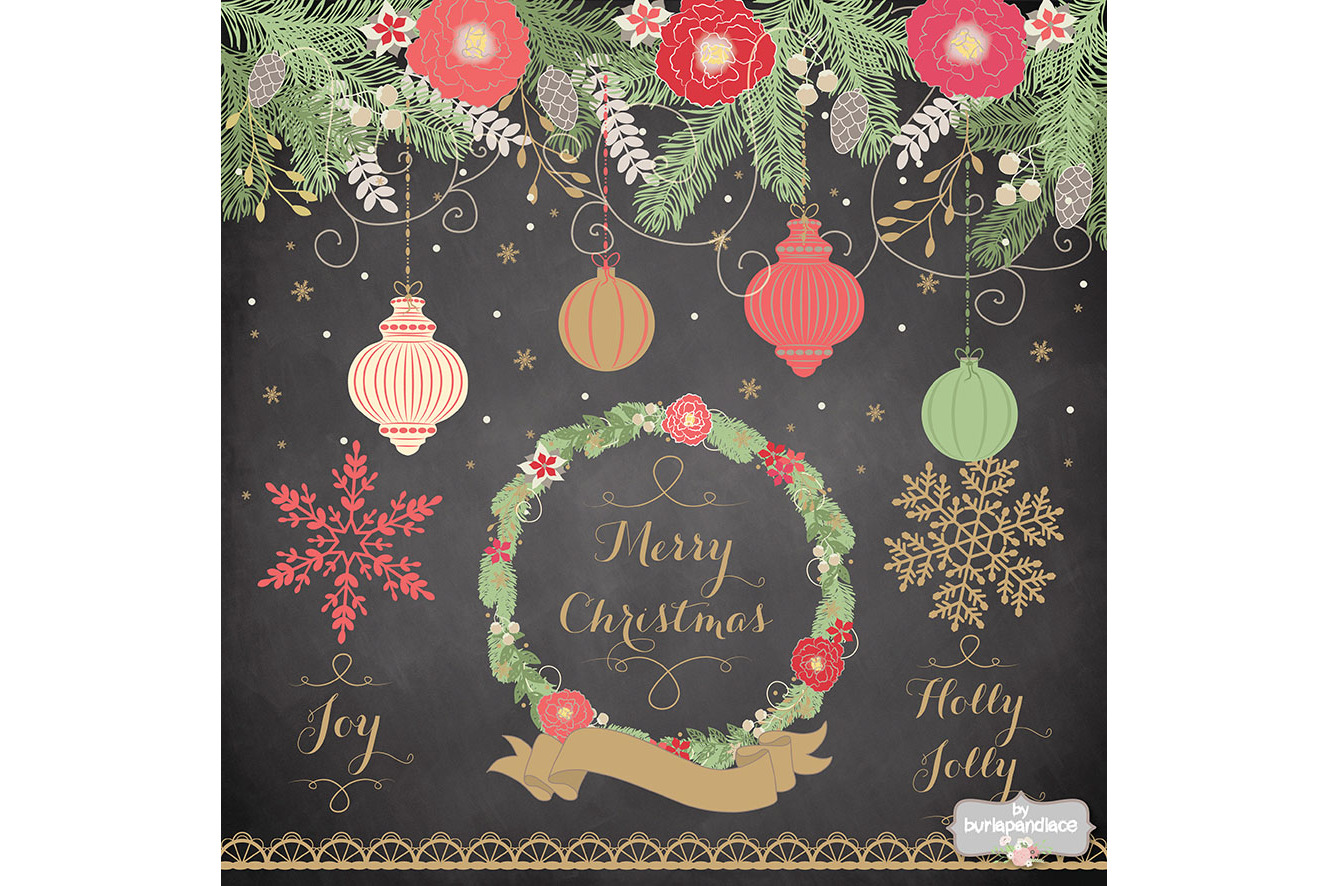 Vintage color christmas design example image 2