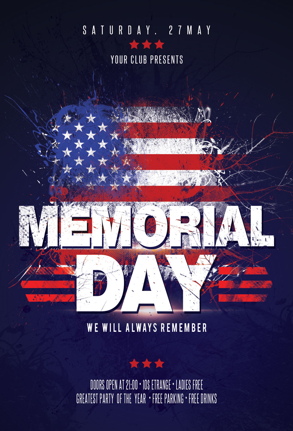 Memorial Day Flyer example image 3