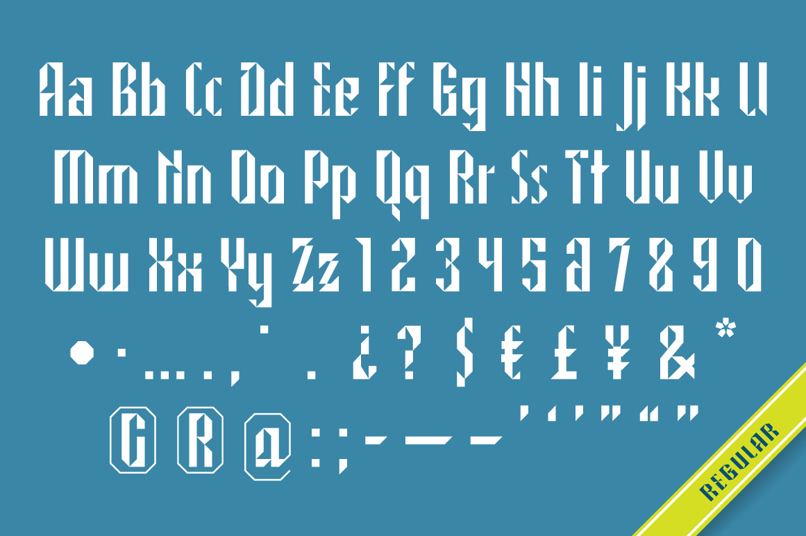 NORTH STAR typeface example image 6