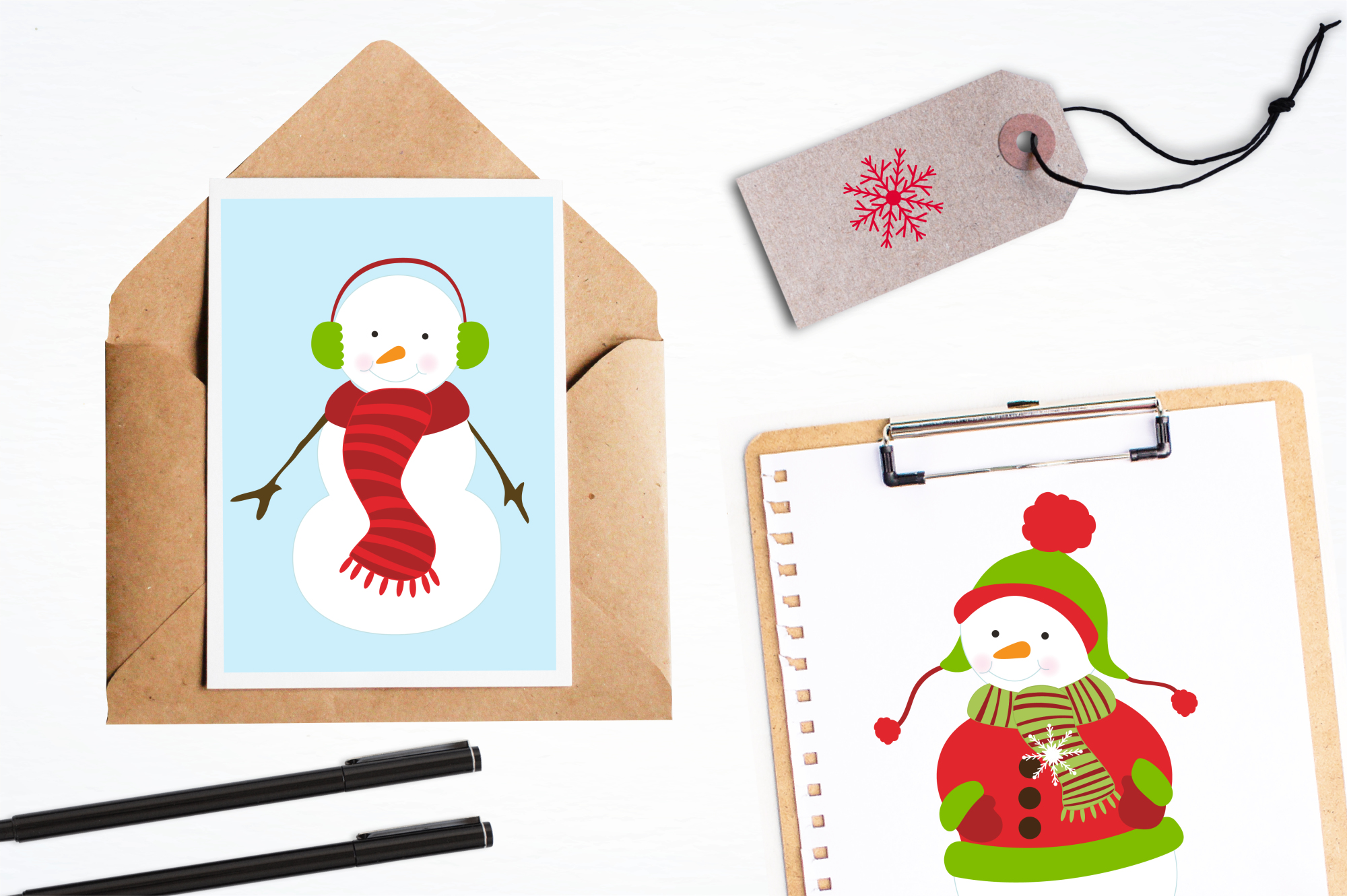 Mr. Snowman graphics and illustrations example image 4
