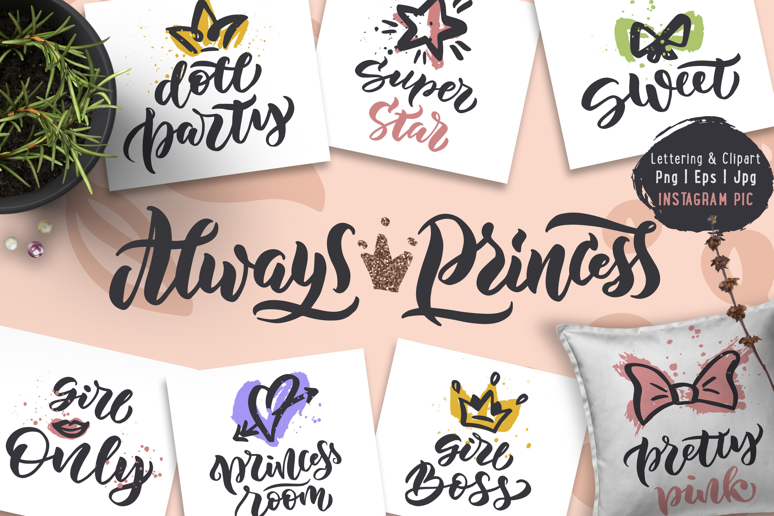 Princess Party collection 22 phrases example image 1