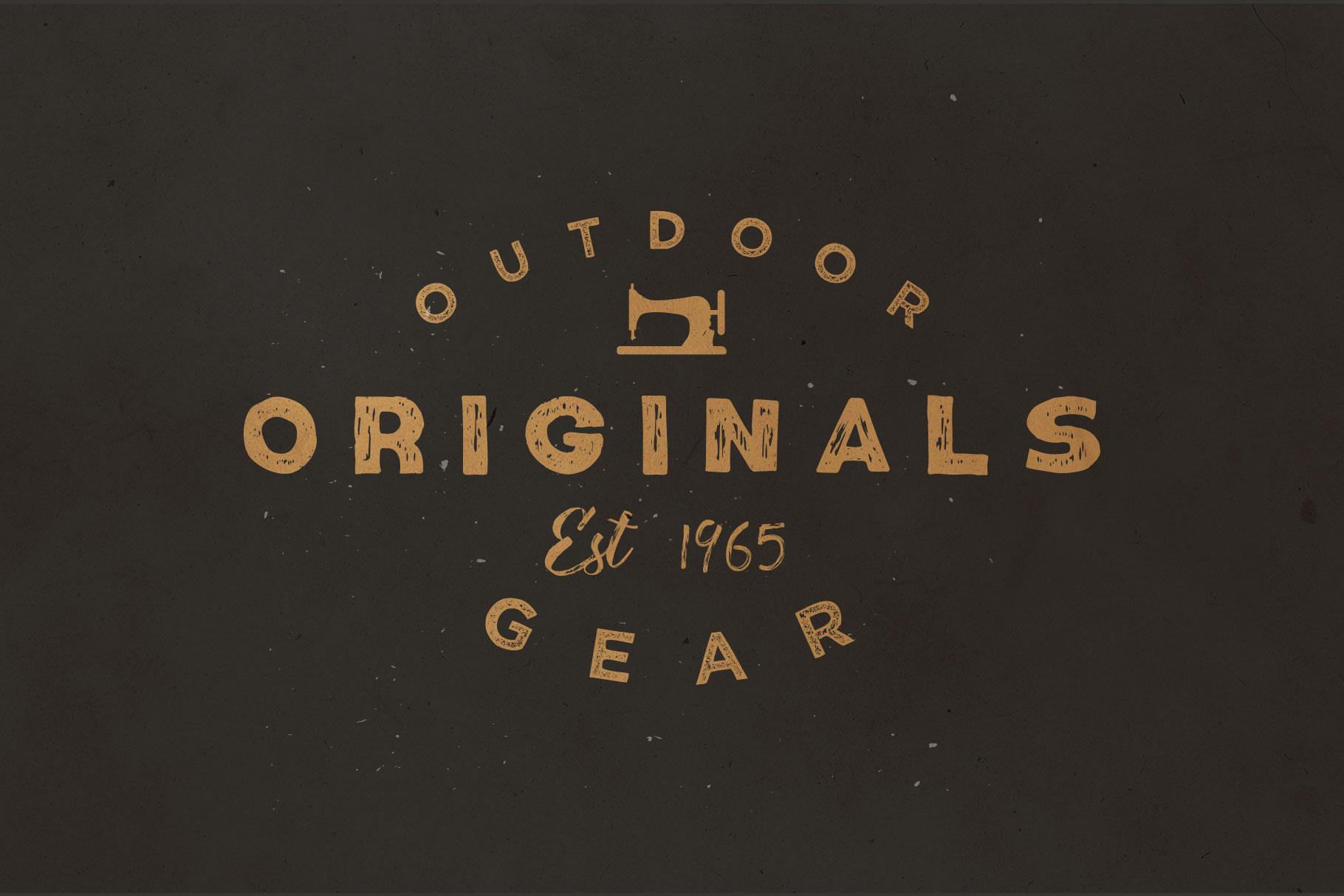 Number9 - Handdrawn Vintage Font example image 6