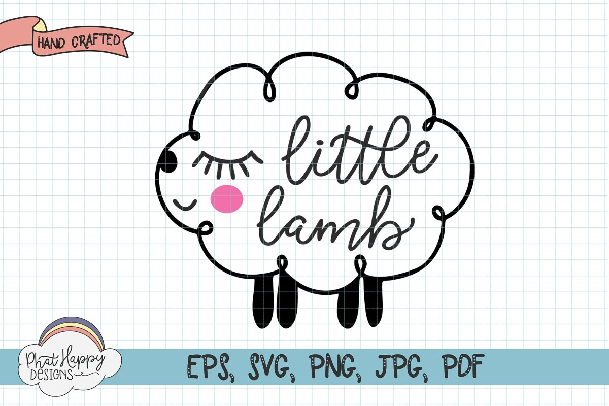 Little Lamb Hand Letter SVG for Easter example image 1