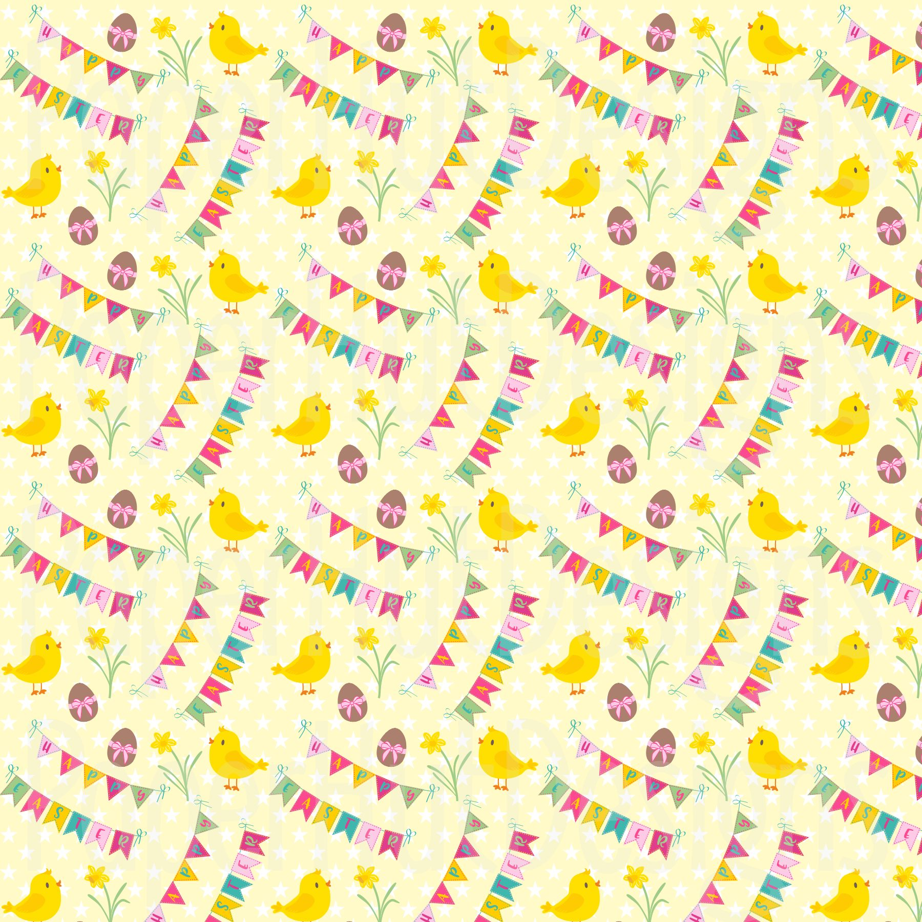 Easter Clipart and Digital Papers Set example image 4