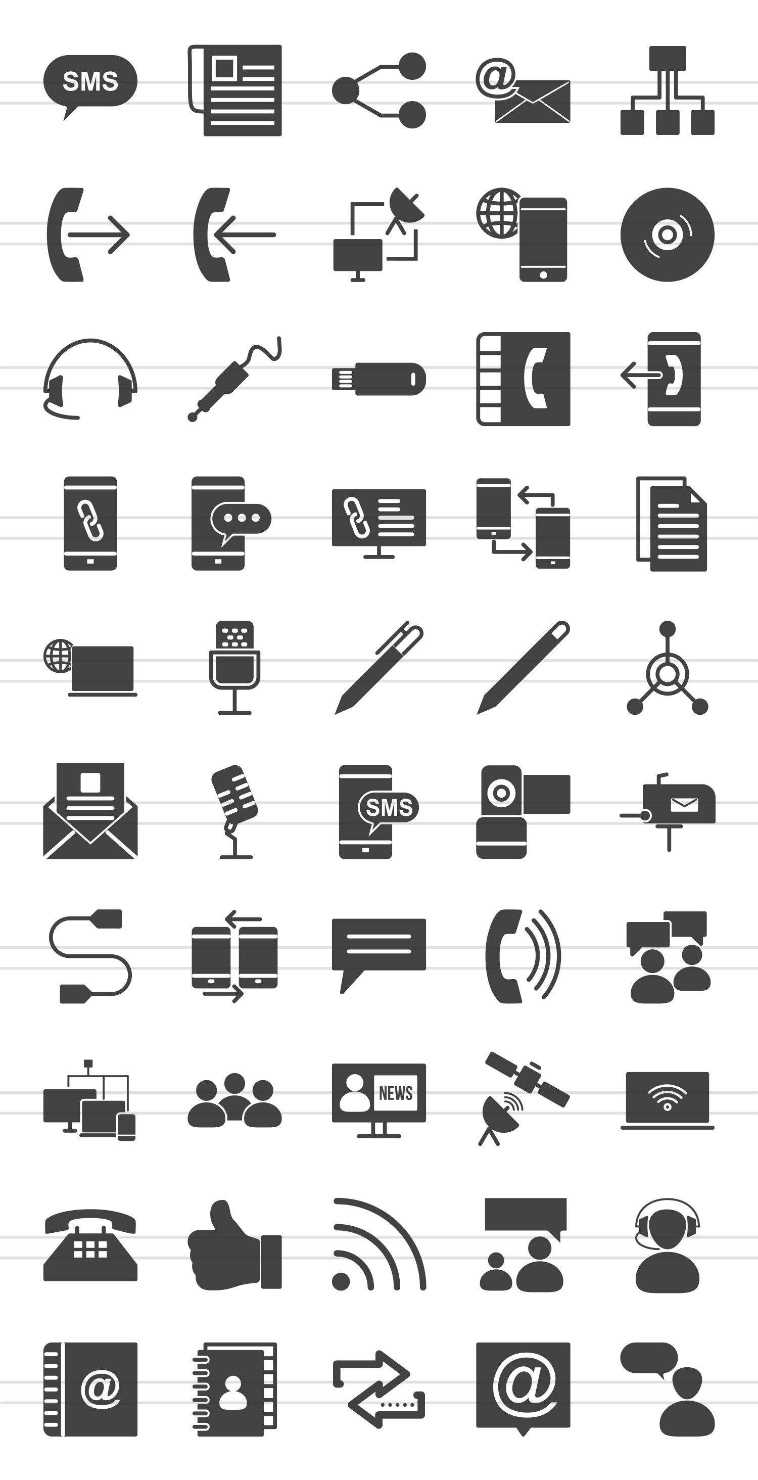 50 IT & Communication Glyph Icons example image 2