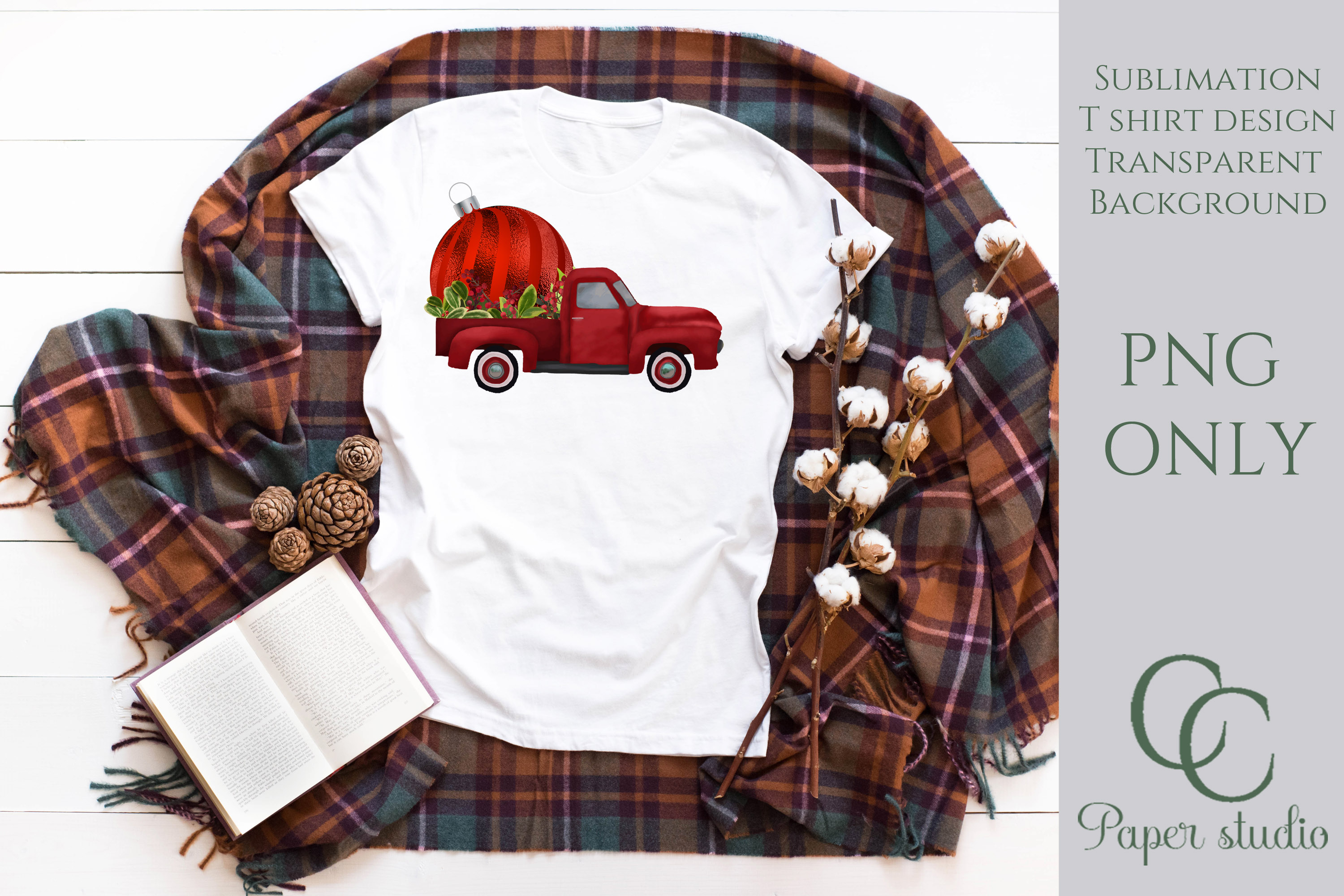 Bauble Truck - christmas example image 2