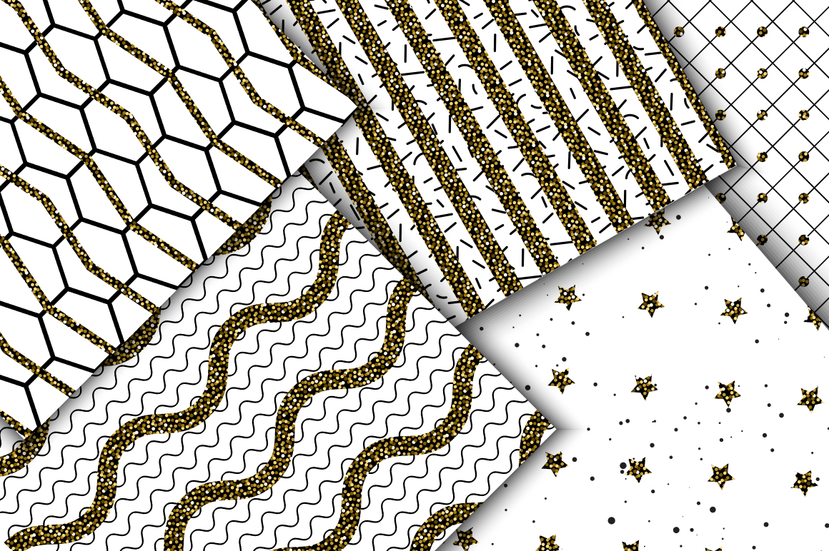 Abstract Glitter Seamless Patterns example image 3