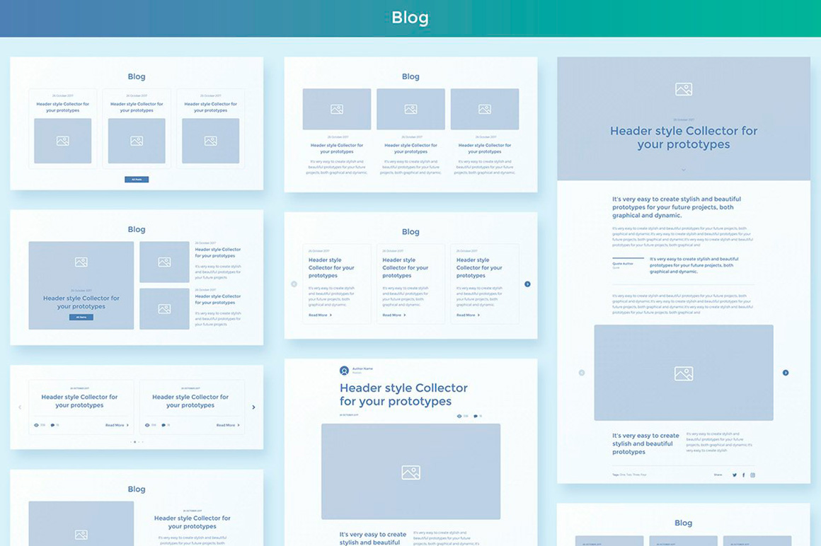 Collector Wireframe Web Kit example image 8