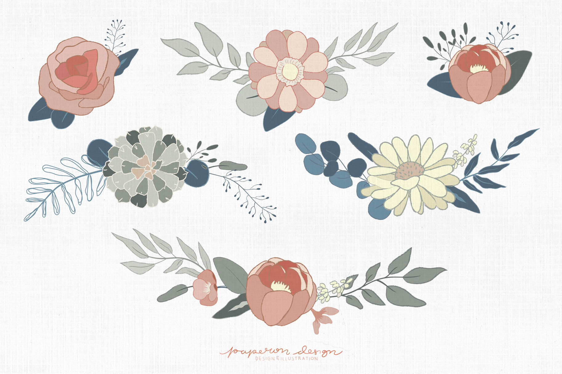 Dreamy Spring Cliparts & Patterns example image 4