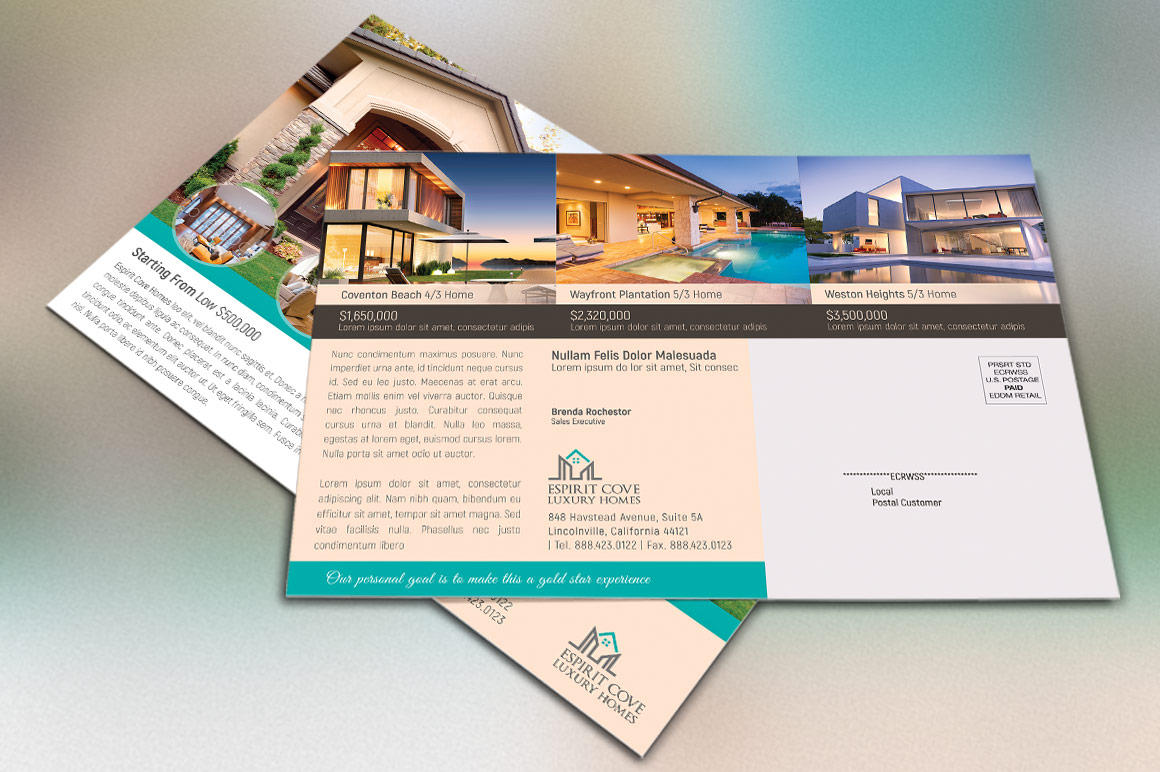 Real Estate EDDM Postcard Template example image 2