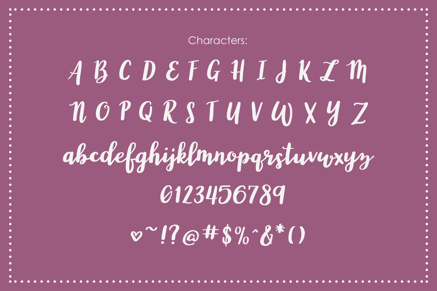 Wonderland, a modern calligraphy font example image 3