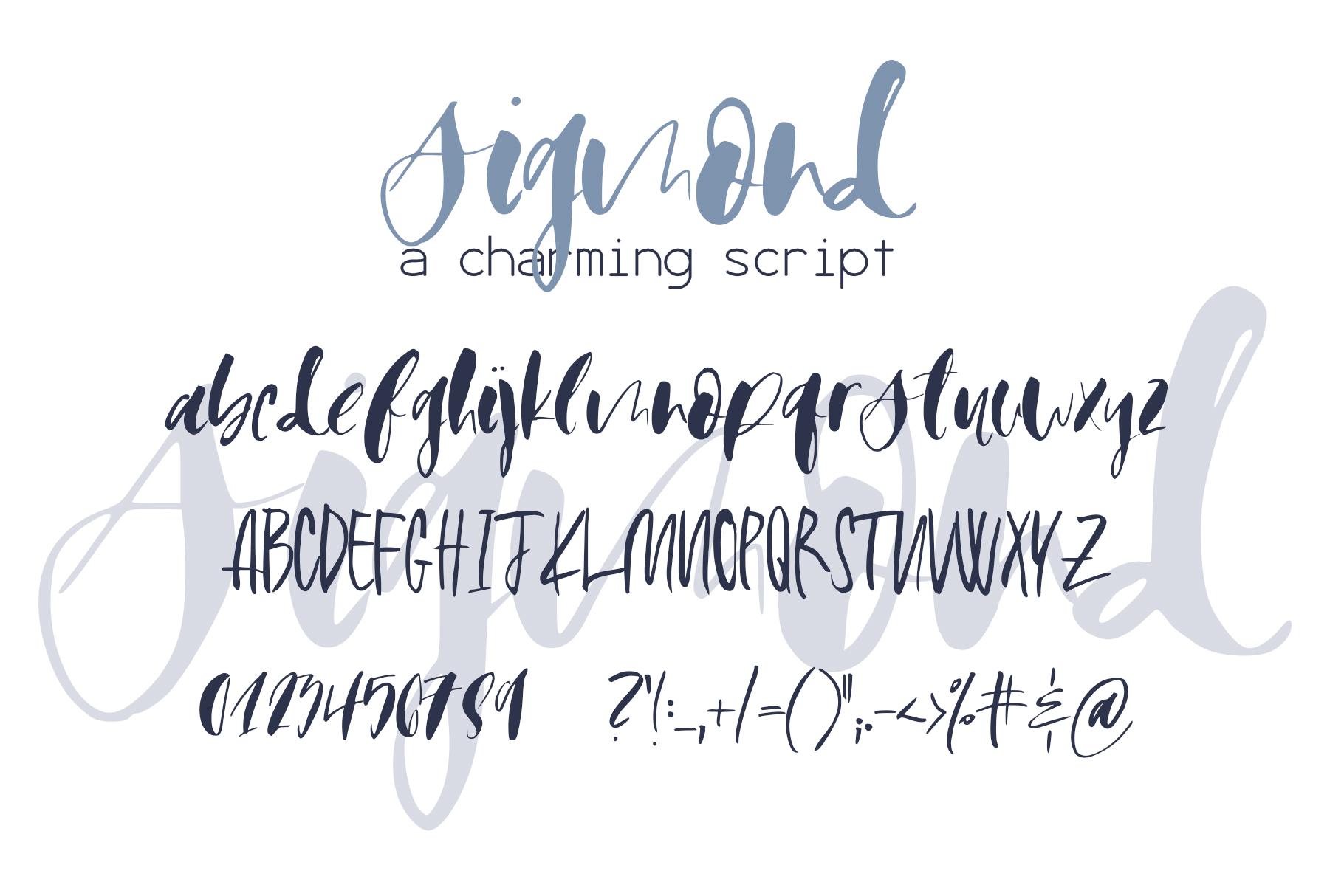 Sigmond Font example image 9