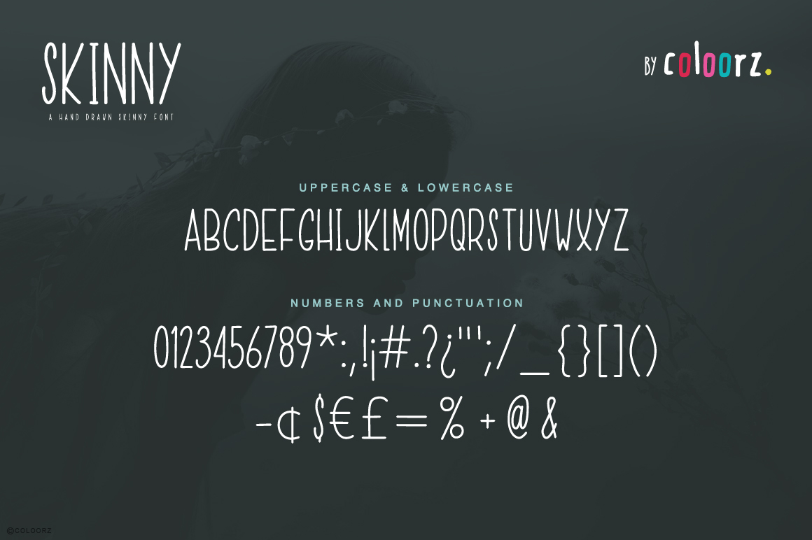 Hand Draw Skinny Font example image 4