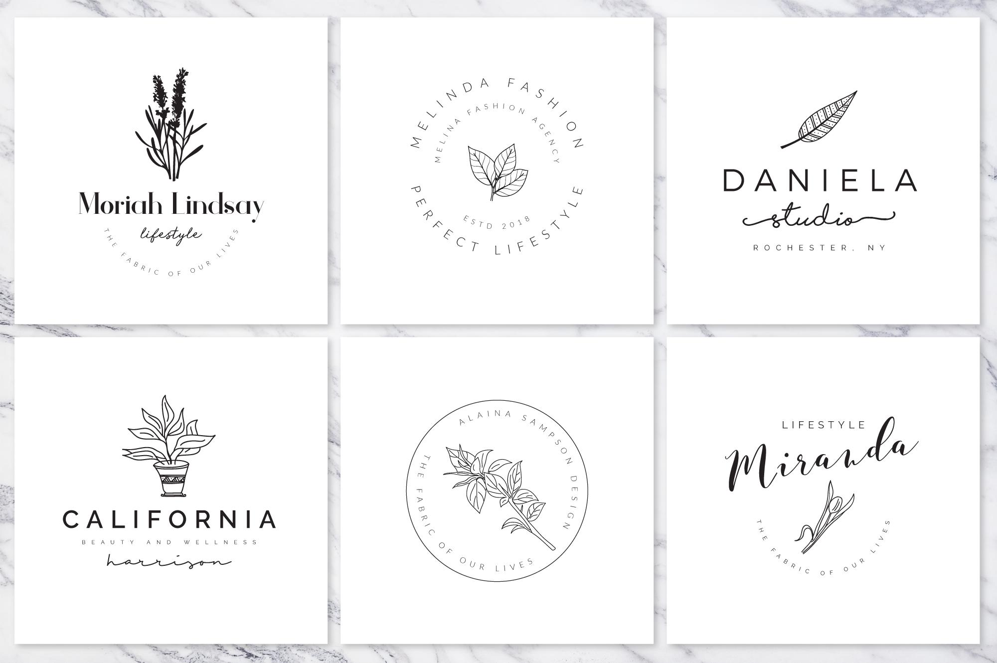 Feminine Branding Premade Logos V01 example image 8