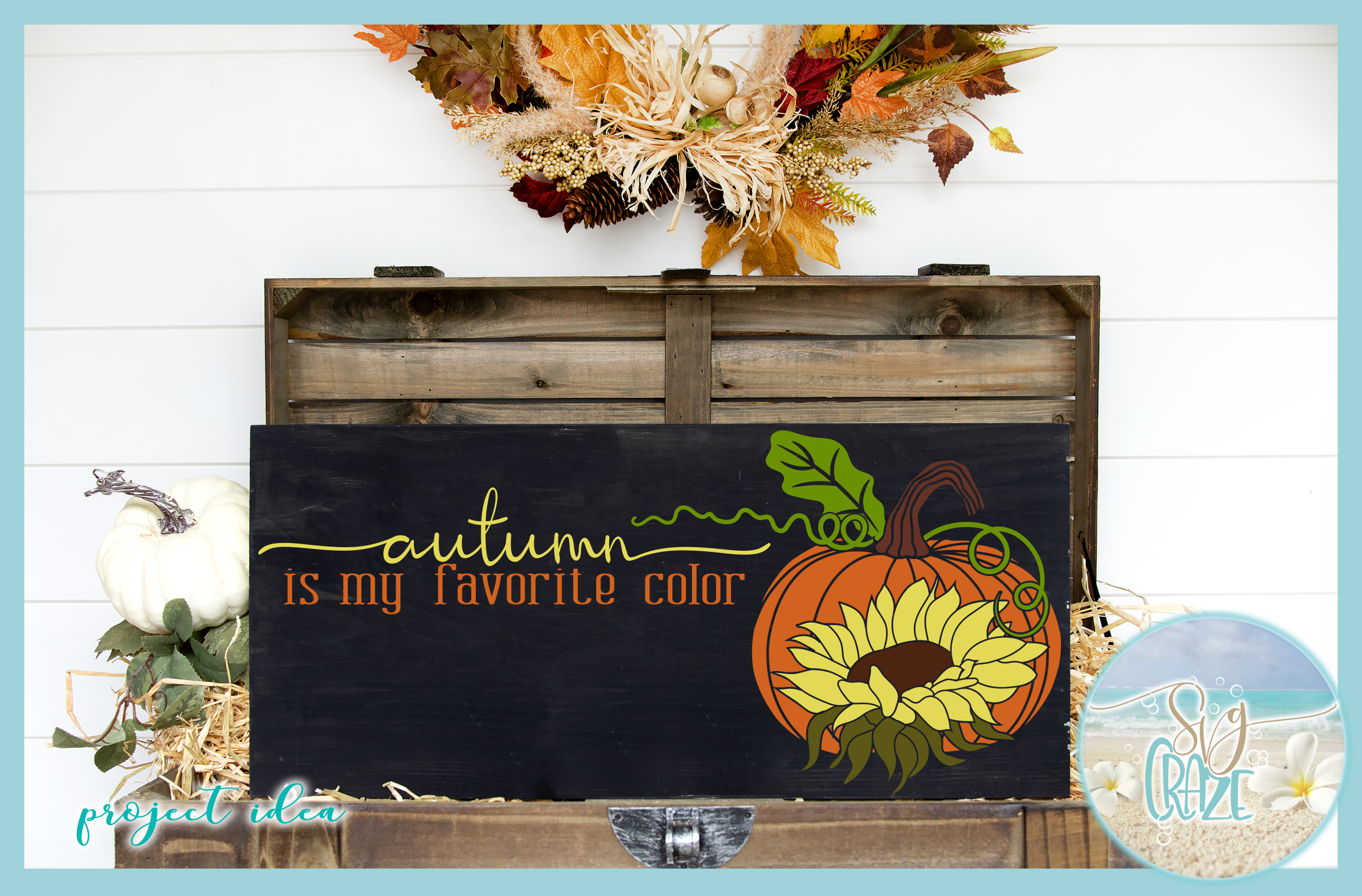 Autumn Fall Quotes Pumpkins And Sunflowers Mini SVG Bundle example image 7