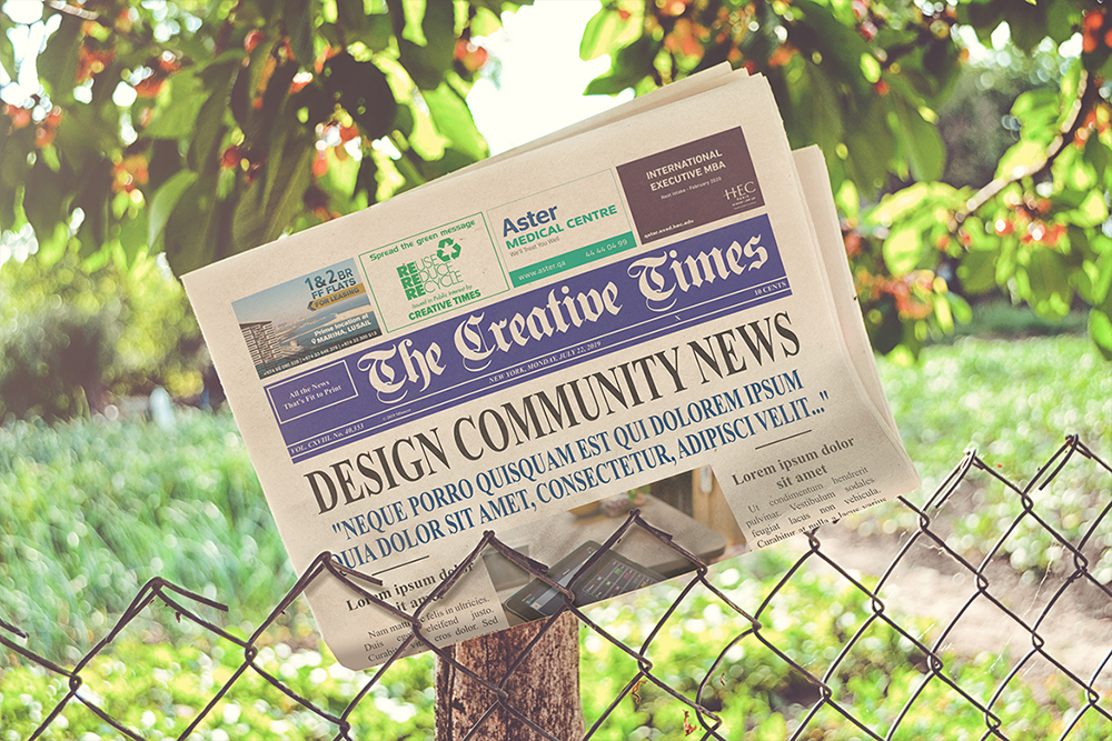 a4 Newspaper Mockups example image 7