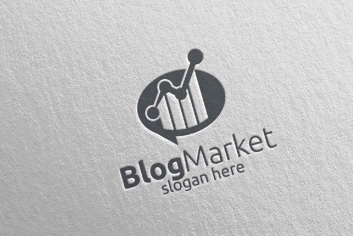Blog Marketing Financial Advisor Logo Design Template 15 example image 5