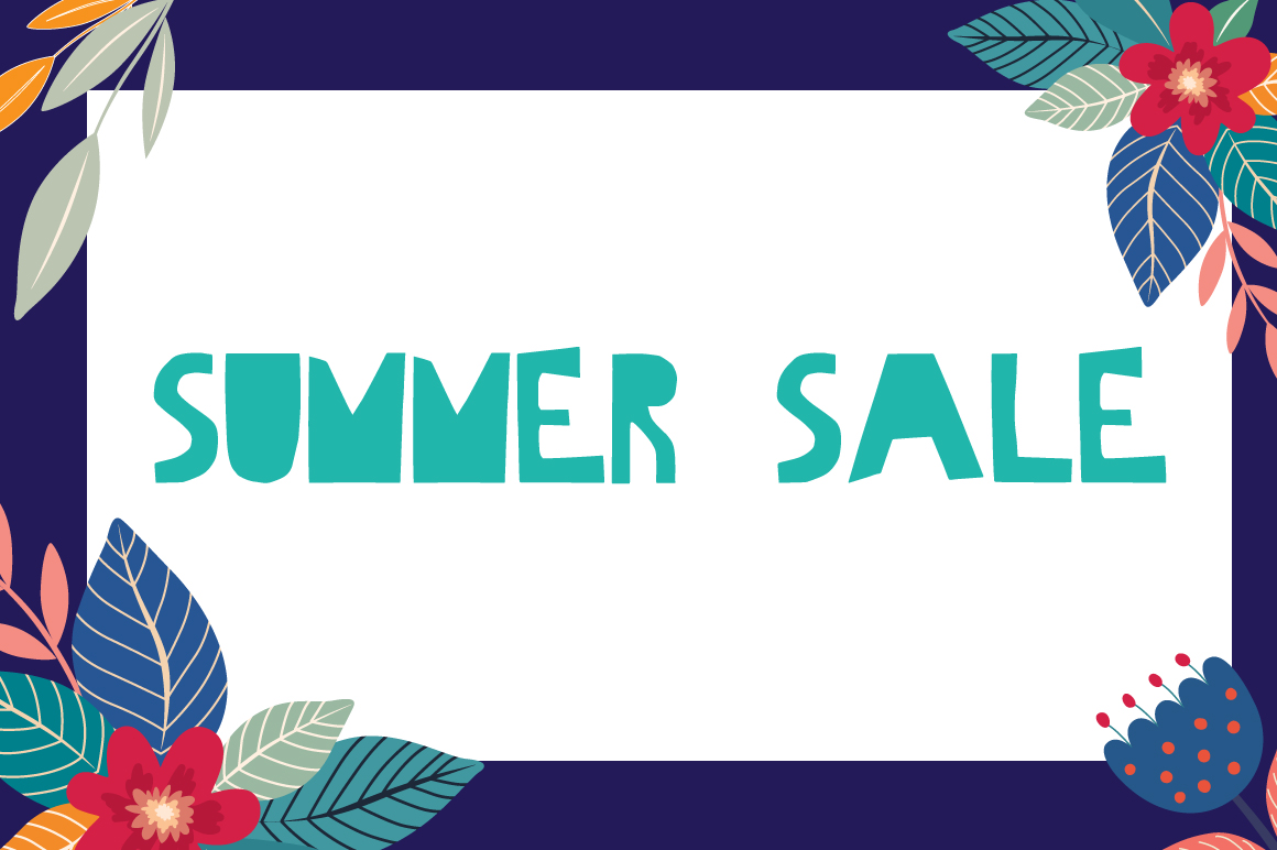 Hello Summer Cutout Font example image 7