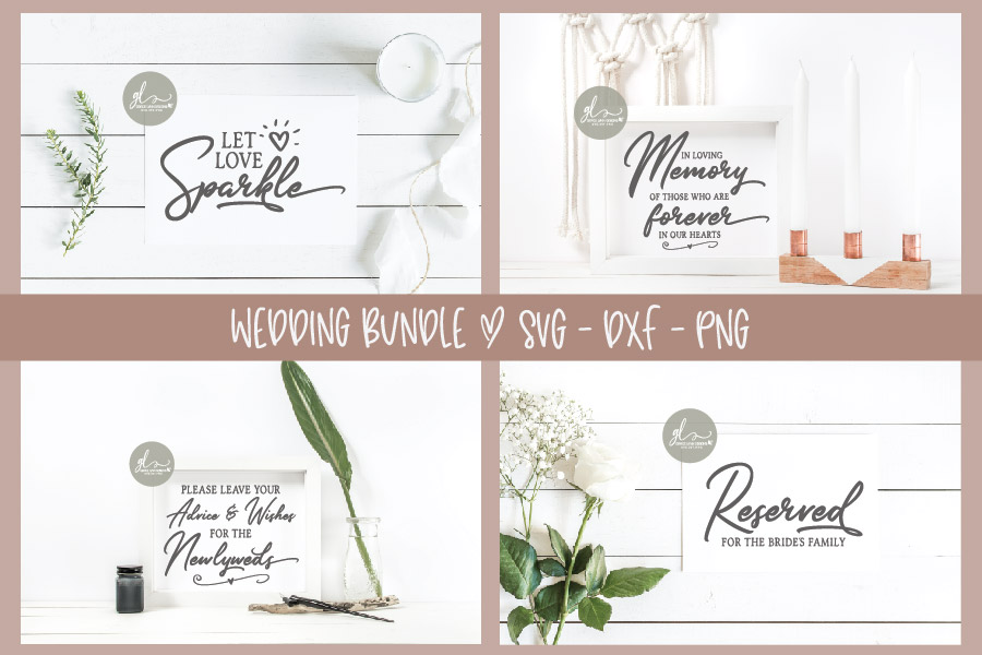Huge Wedding Sign SVG Bundle - 25 Designs - SVG, DXF & PNG example image 6
