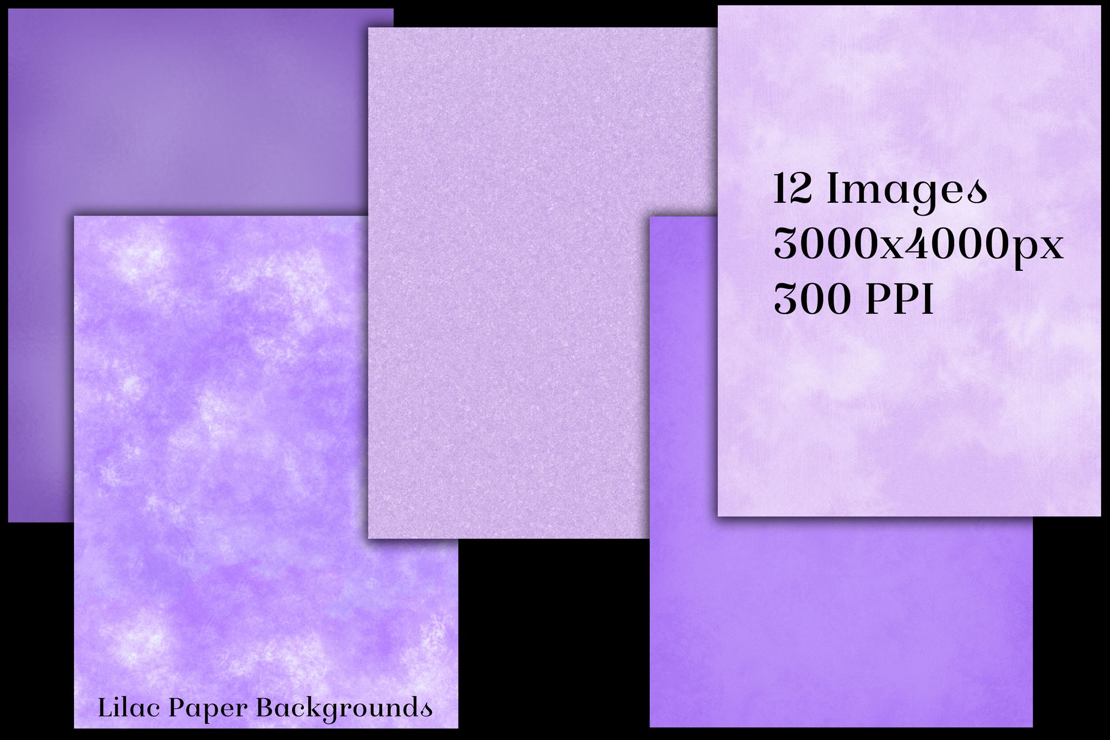 Lilac Paper Backgrounds - 12 Image Textures Set example image 2