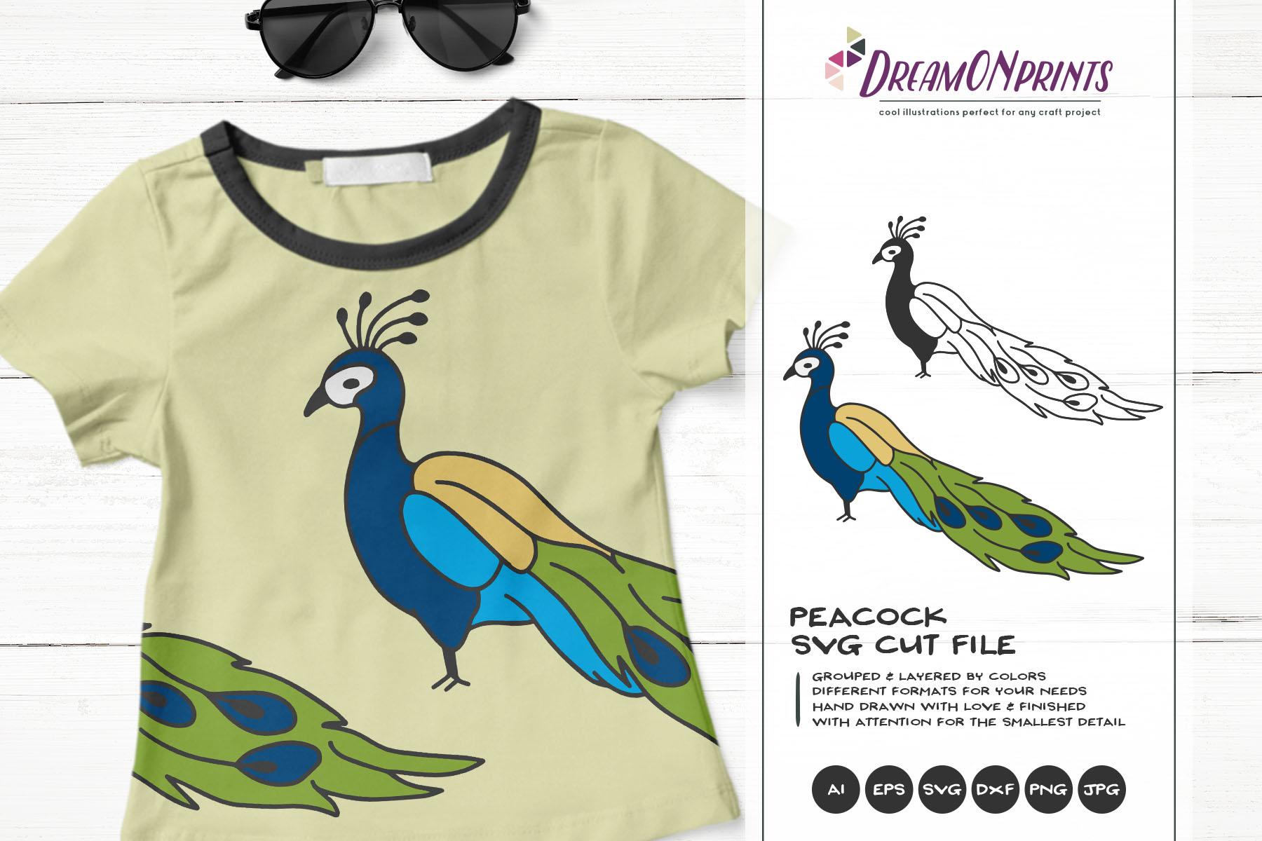 Peacock Svg Cut File Exotic Bird Svg 518260 Illustrations Design Bundles