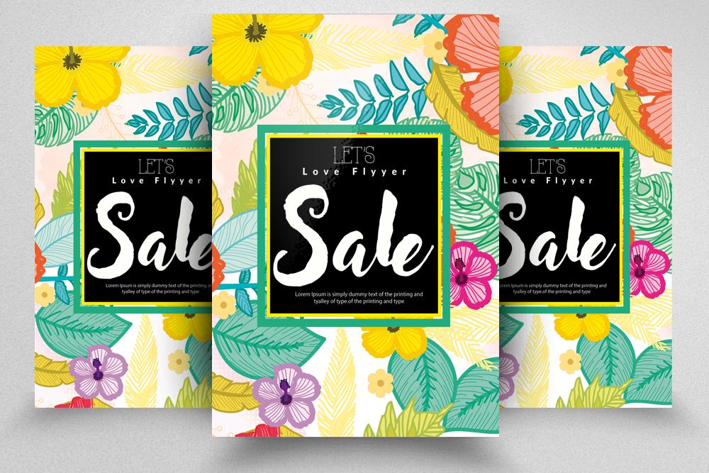4 Sale Typography Flyers Bundle example image 3
