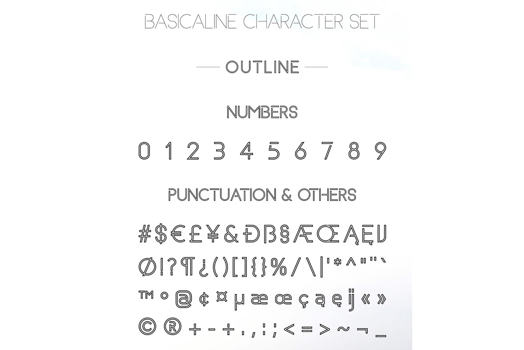 Basicaline Font Family - Sans Serif example image 17