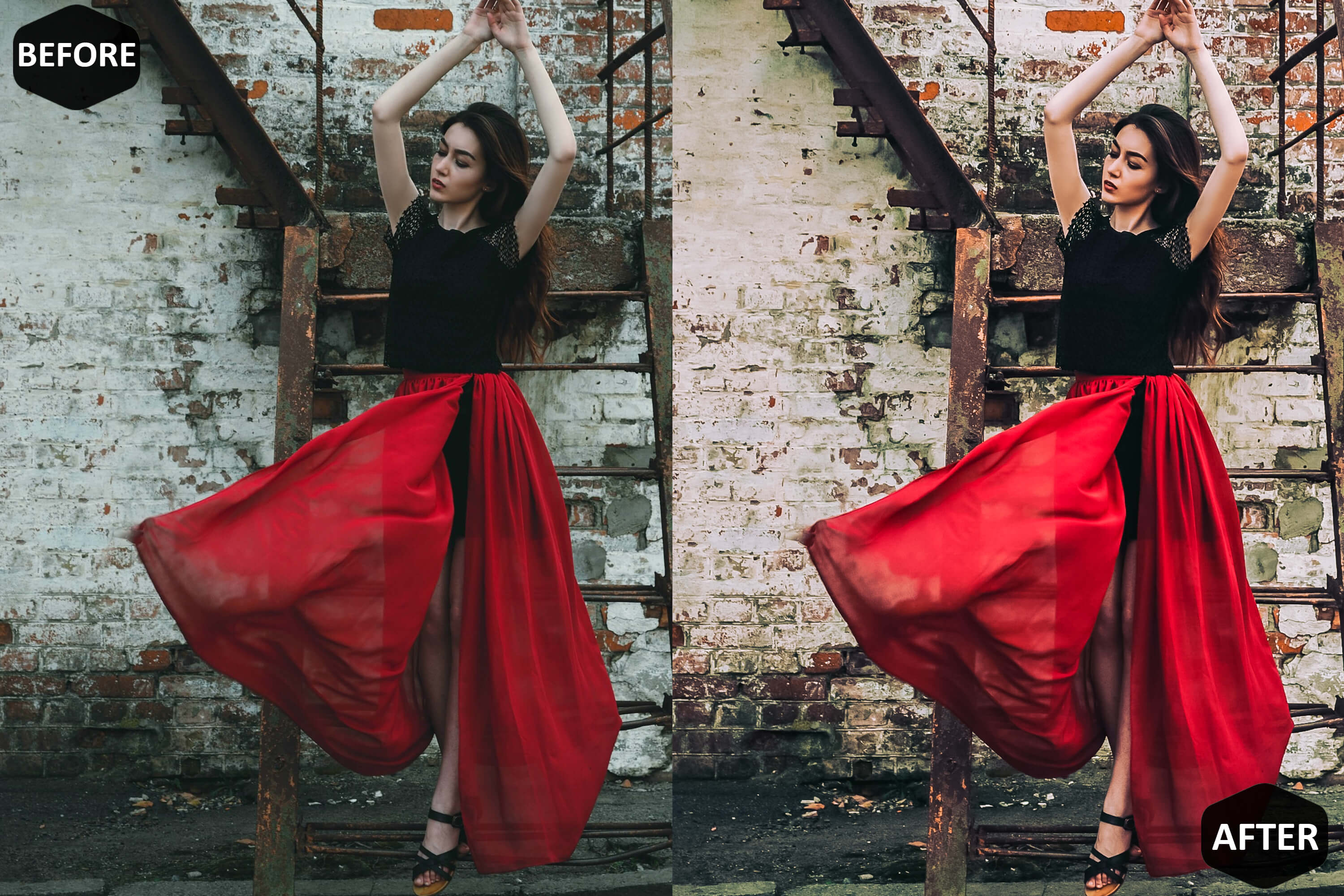Red Blogger Photoshop Actions And ACR Presets example image 7