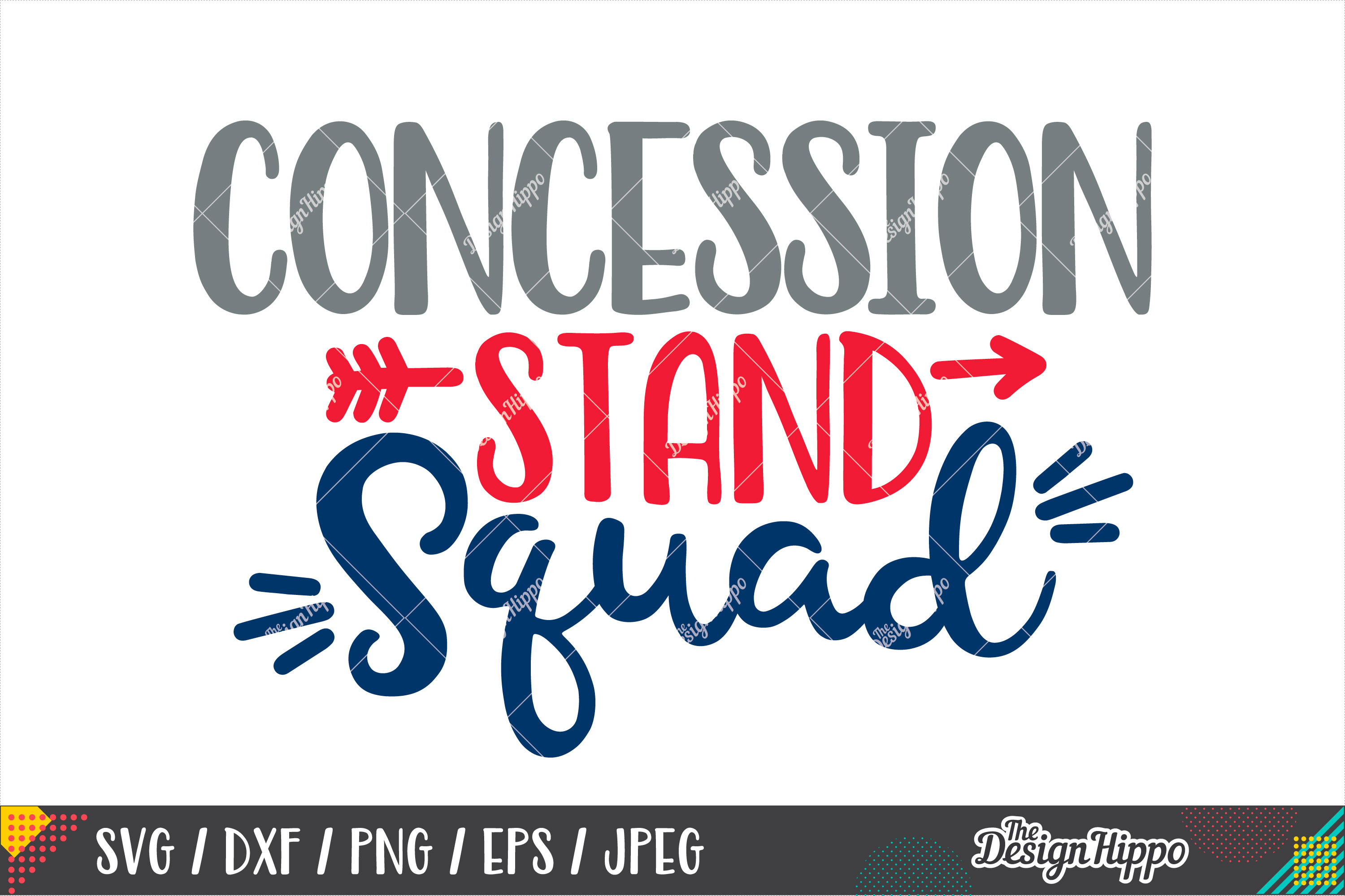 Concession Stand Squad SVG, Football SVG DXF PNG Cut Files example image 1
