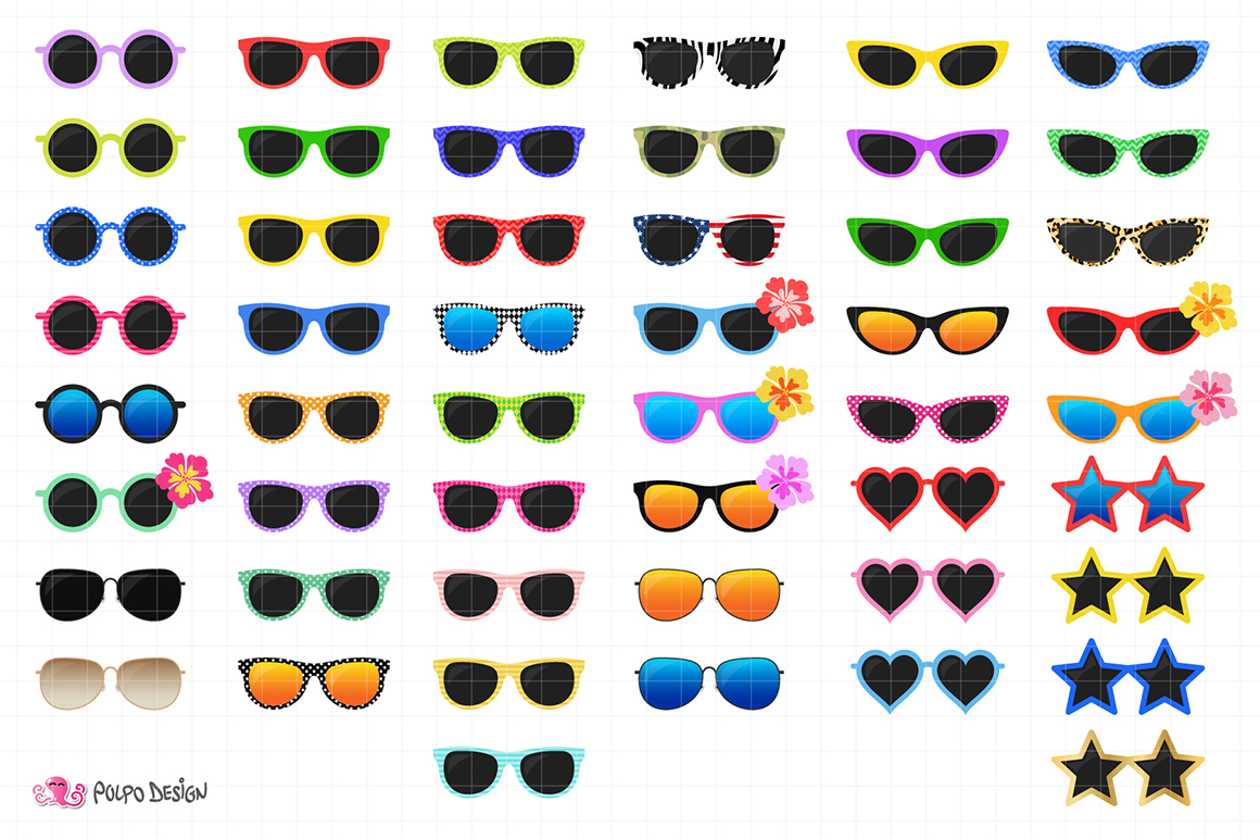 50 Sunglasses clipart example image 3
