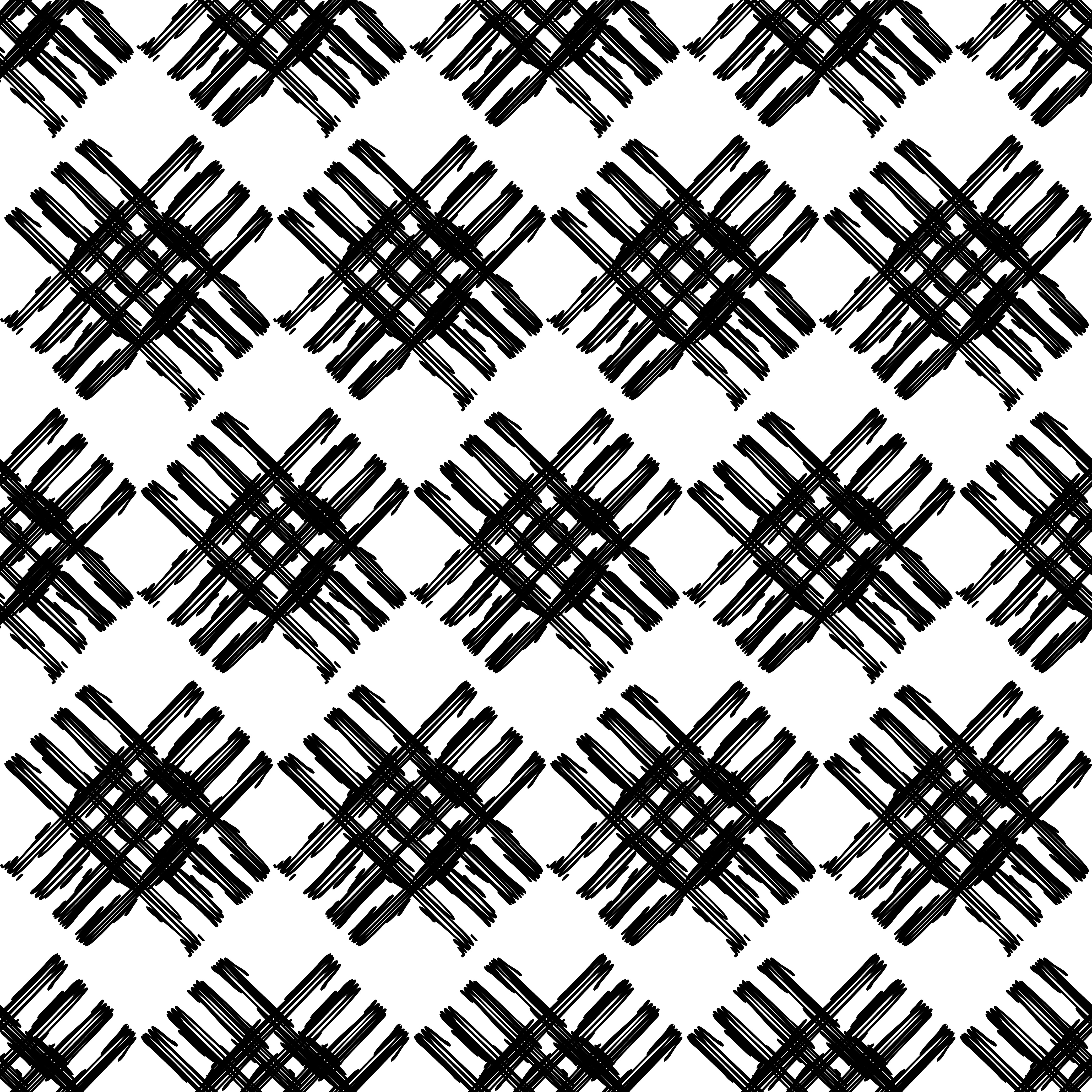 6 Ethnic boho seamless pattern. Scribble texture.  example image 5
