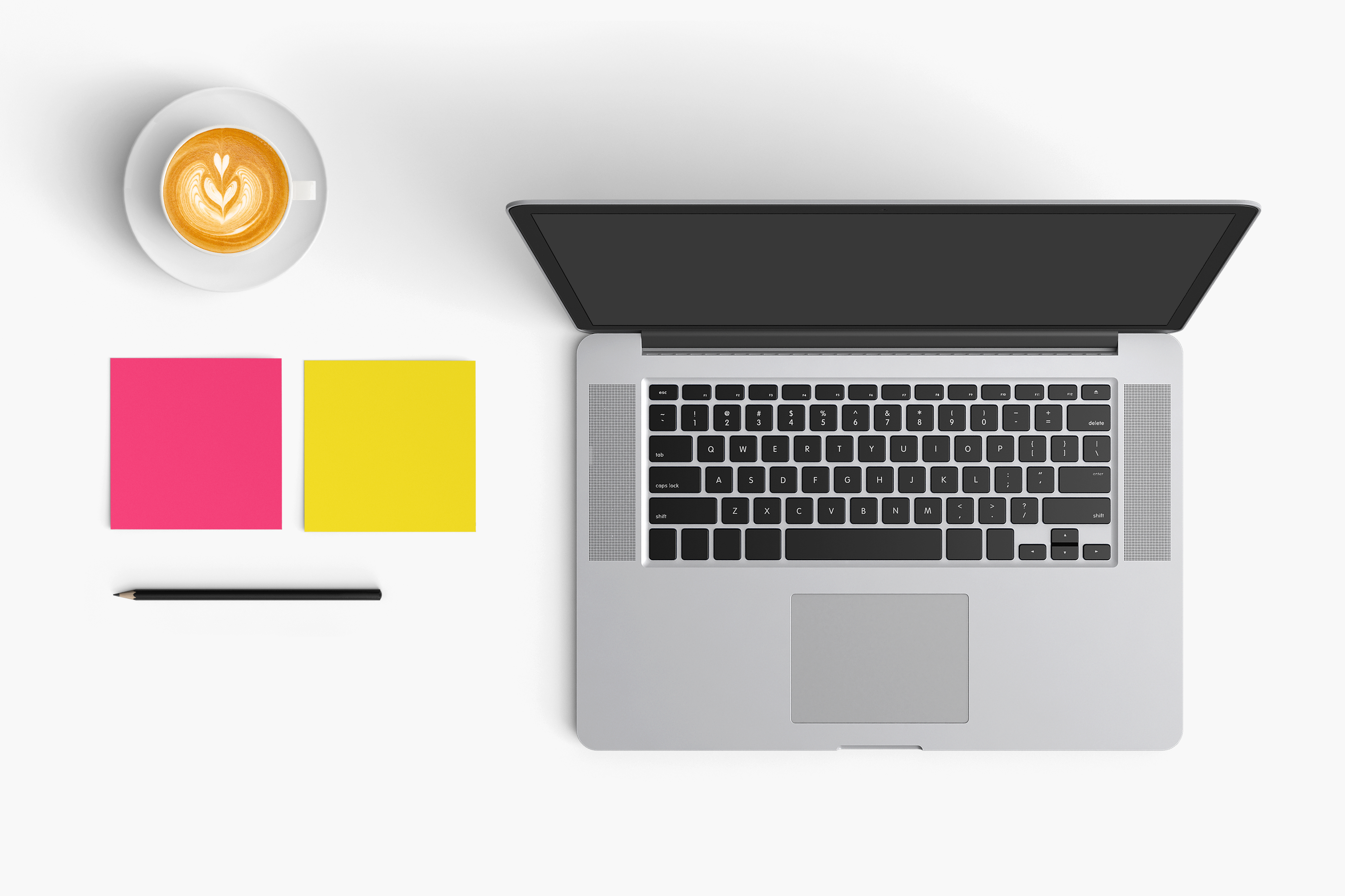 Modern workplace. Top view. Flat lay style. 6 example image 1