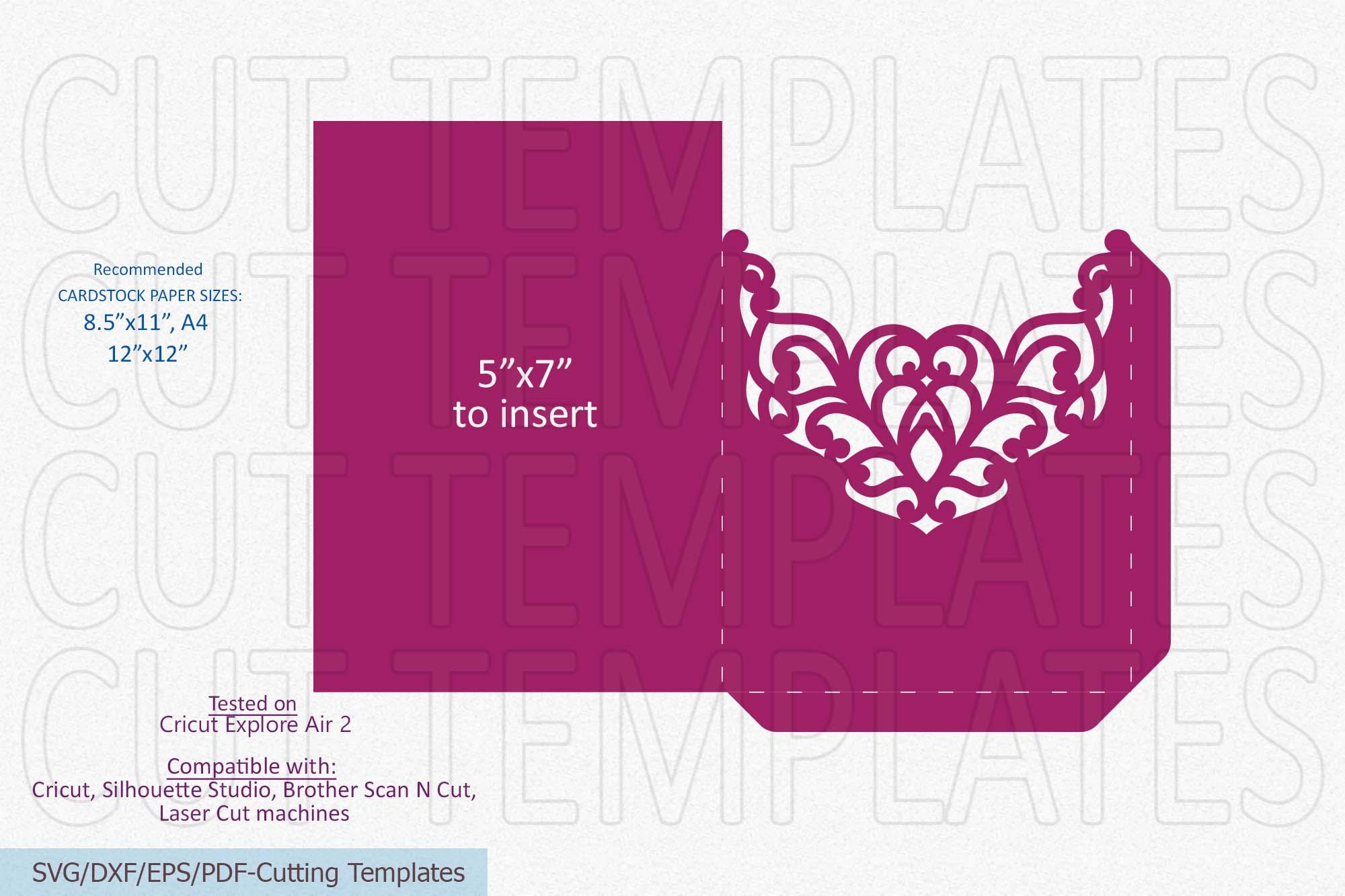 5x7 Pocket Envelope laser cutting template svg dxf digitals example image 4
