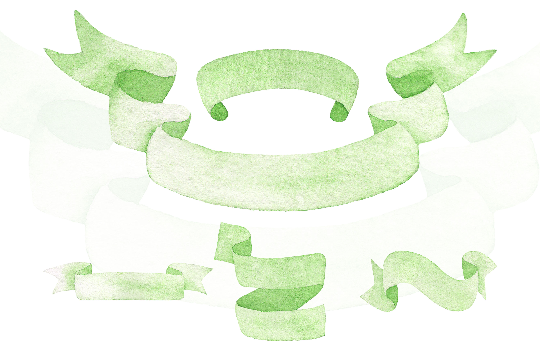 Watercolor Ribbon Clip Art example image 4