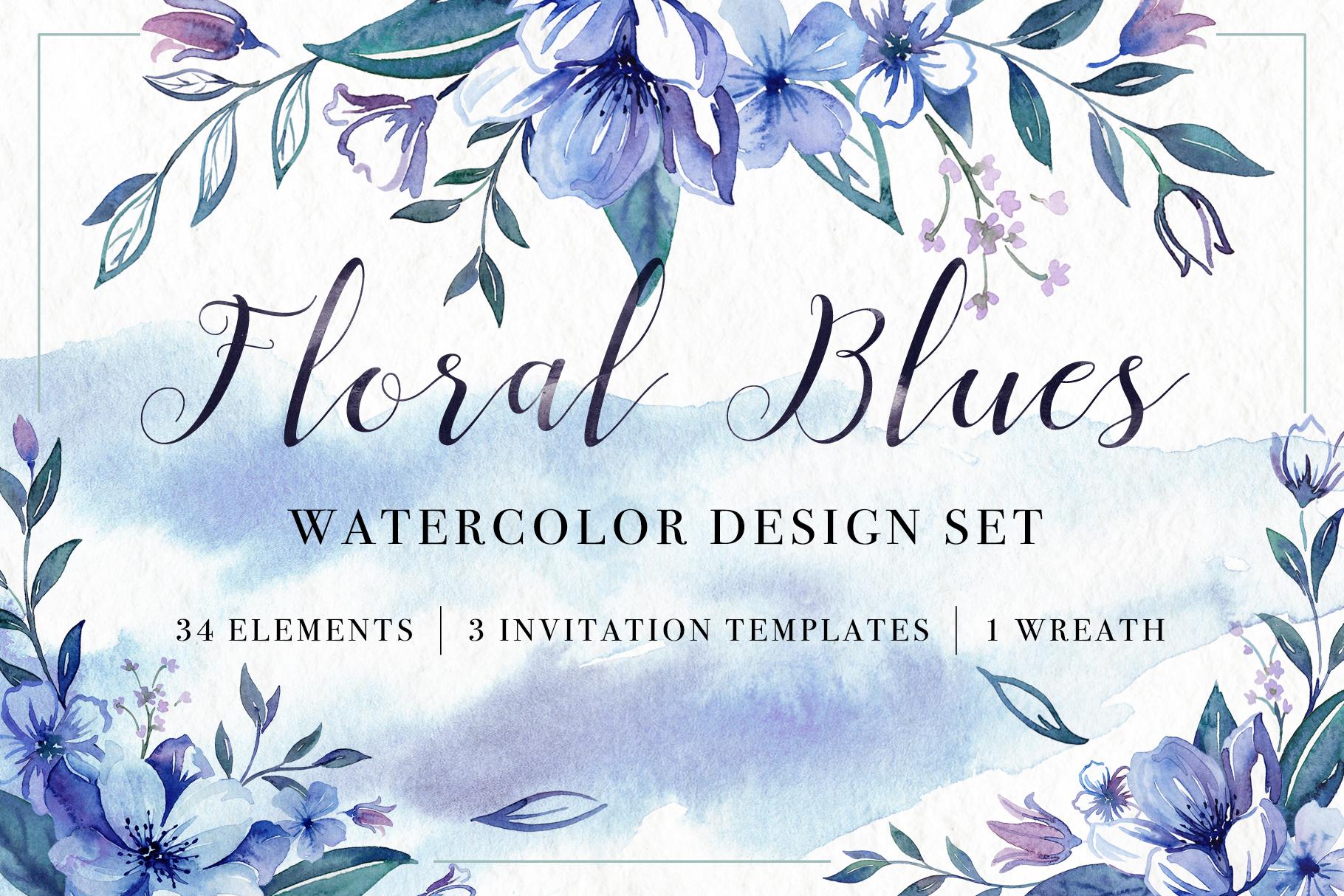 Floral Watercolor Bundle example image 14