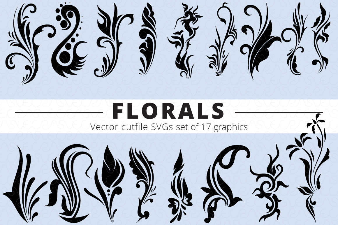 SVG Florals Cutfiles Bundle Pack of 270 vector graphic shape example image 10