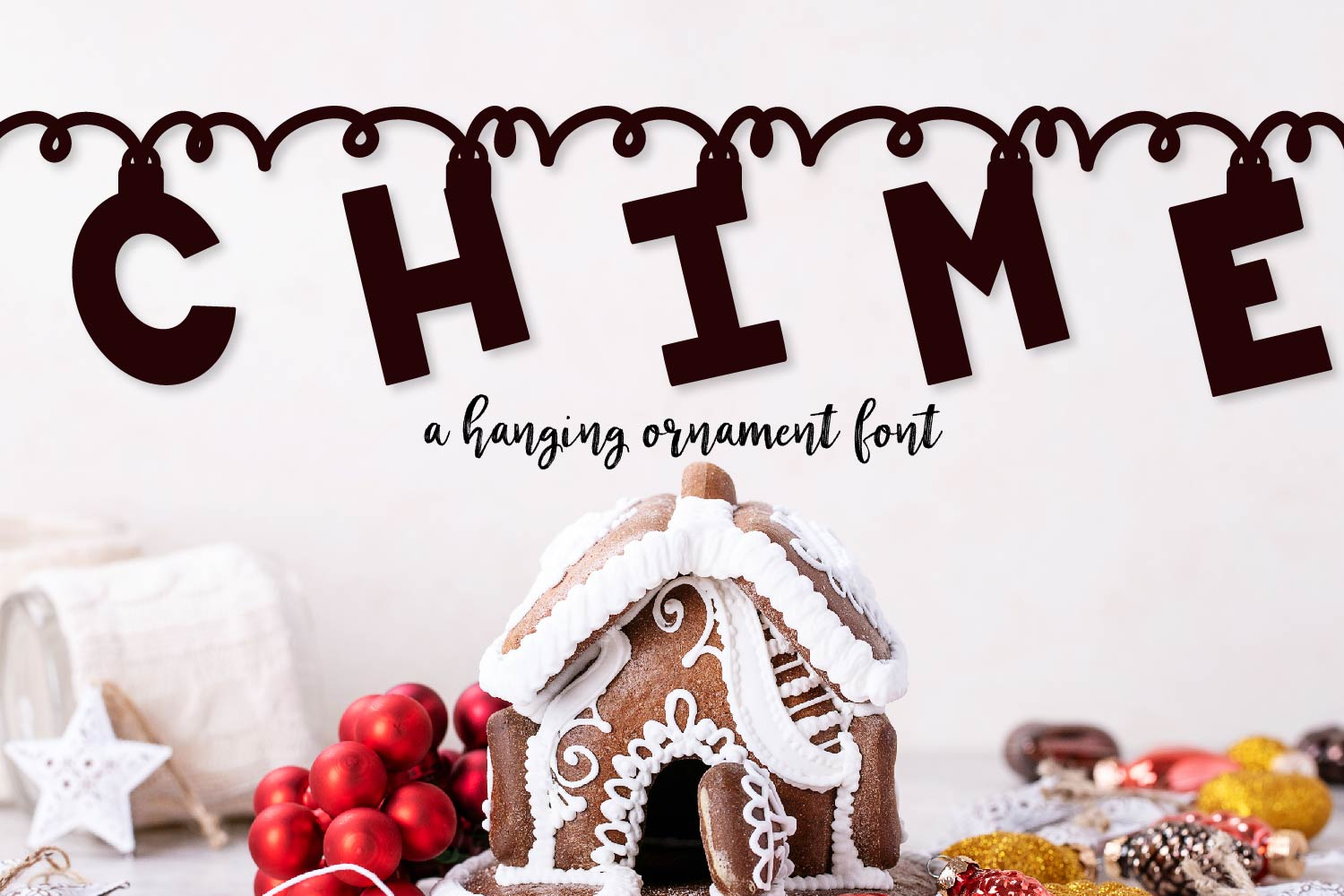 Chime - A Hanging Christmas Ornament Font example image 1