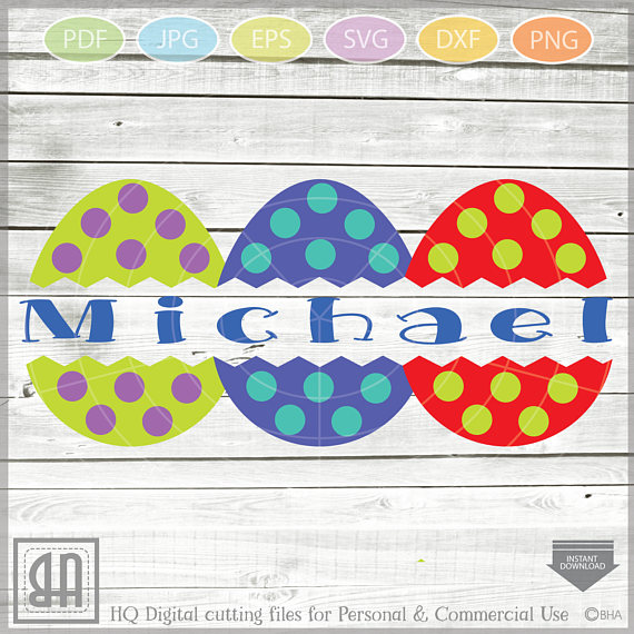 Easter Eggs monogram SVG - Easter bundle mini SVG example image 3