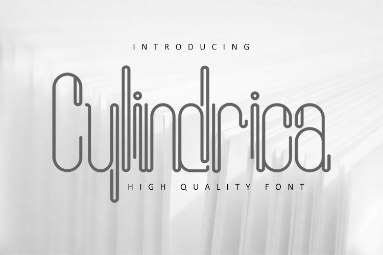 Cylindrica Font example image 1