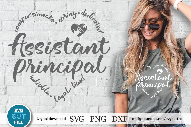 Assistant principal svg, Asst principal svg, heart shape svg example image 1