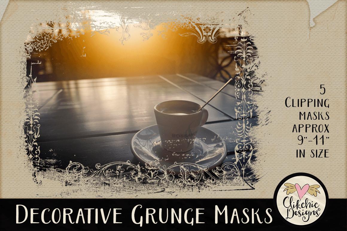 Decorative Grunge Photoshop Clipping Masks & Tutorial example image 5