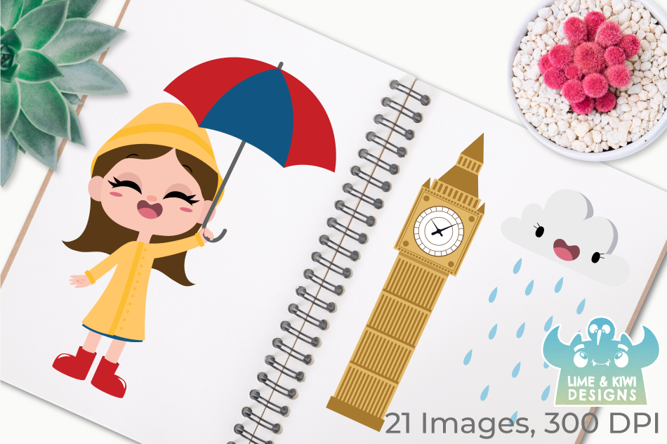 UK London Clipart, Instant Download Vector Art example image 3